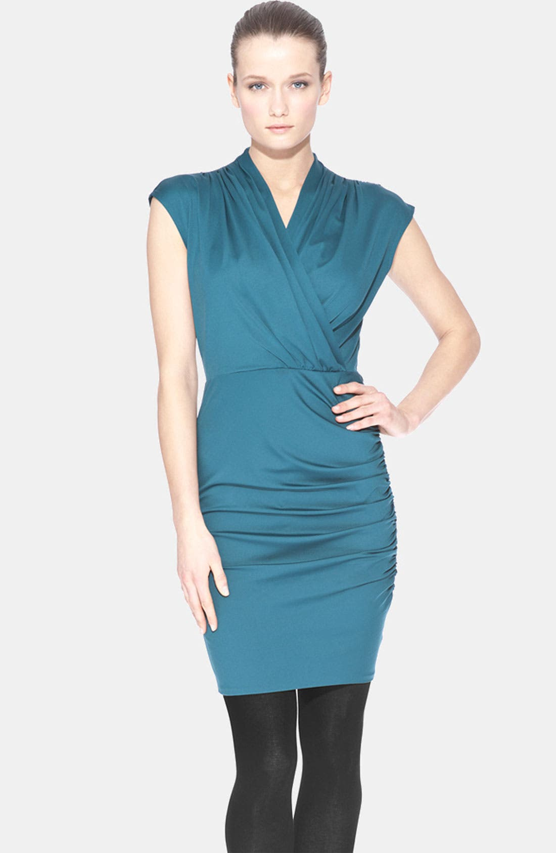 Alternate Image 1 Selected - Marc New York by Andrew Marc Cap Sleeve Surplice Dress