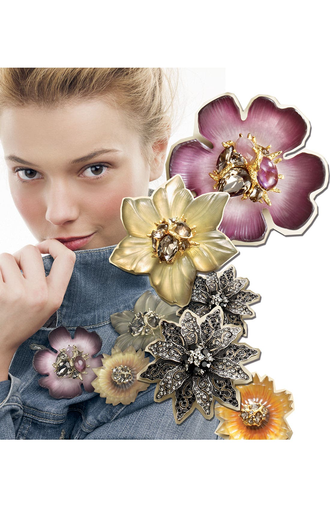Alternate Image 3  - Alexis Bittar Encrusted Sunflower Pin (Nordstrom Exclusive)
