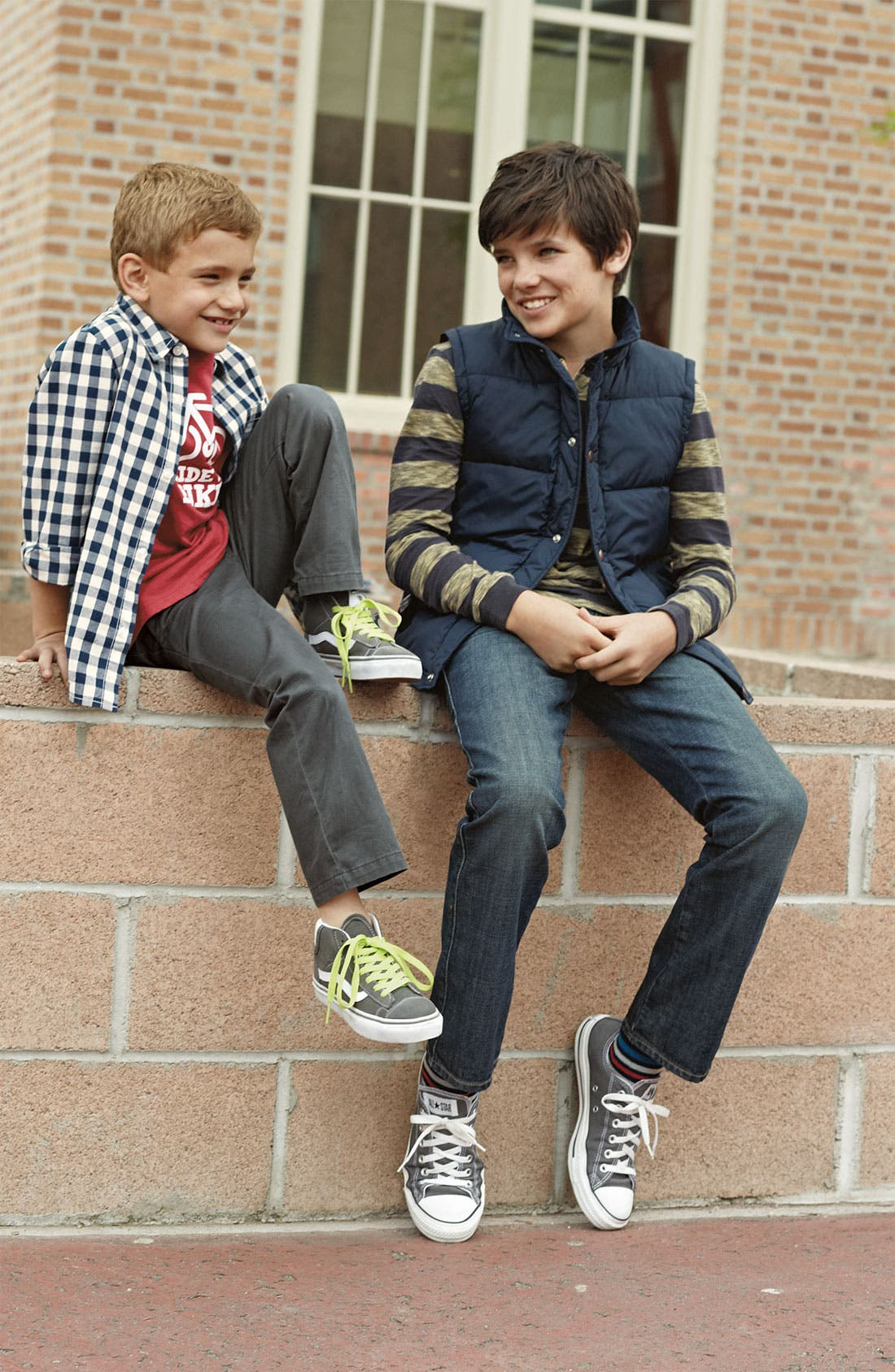 Alternate Image 1 Selected - Tucker + Tate T-Shirt, Woven Shirt & Chinos (Little Boys)