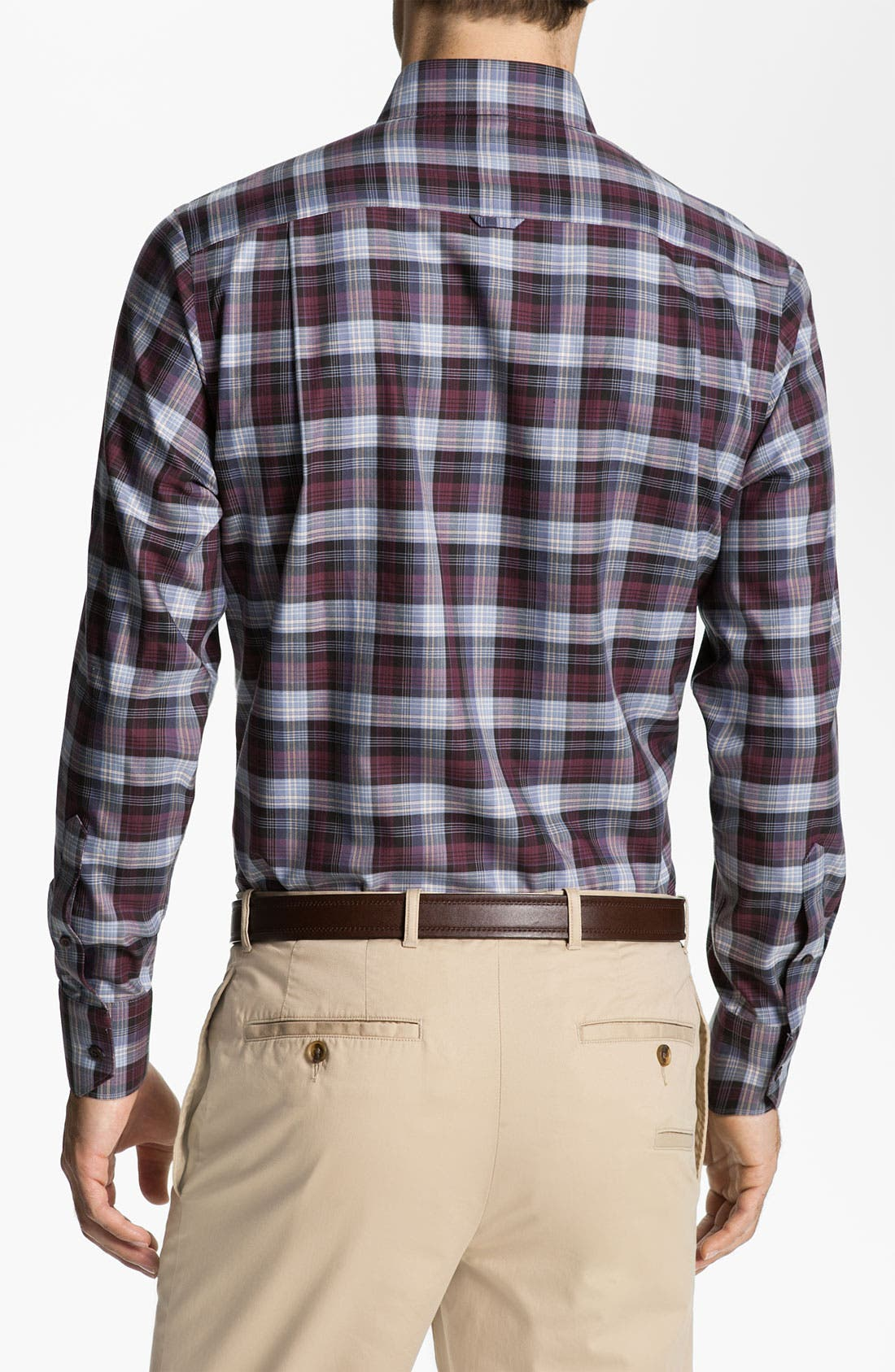 Alternate Image 2  - Nordstrom Smartcare™ Regular Fit Twill Sport Shirt