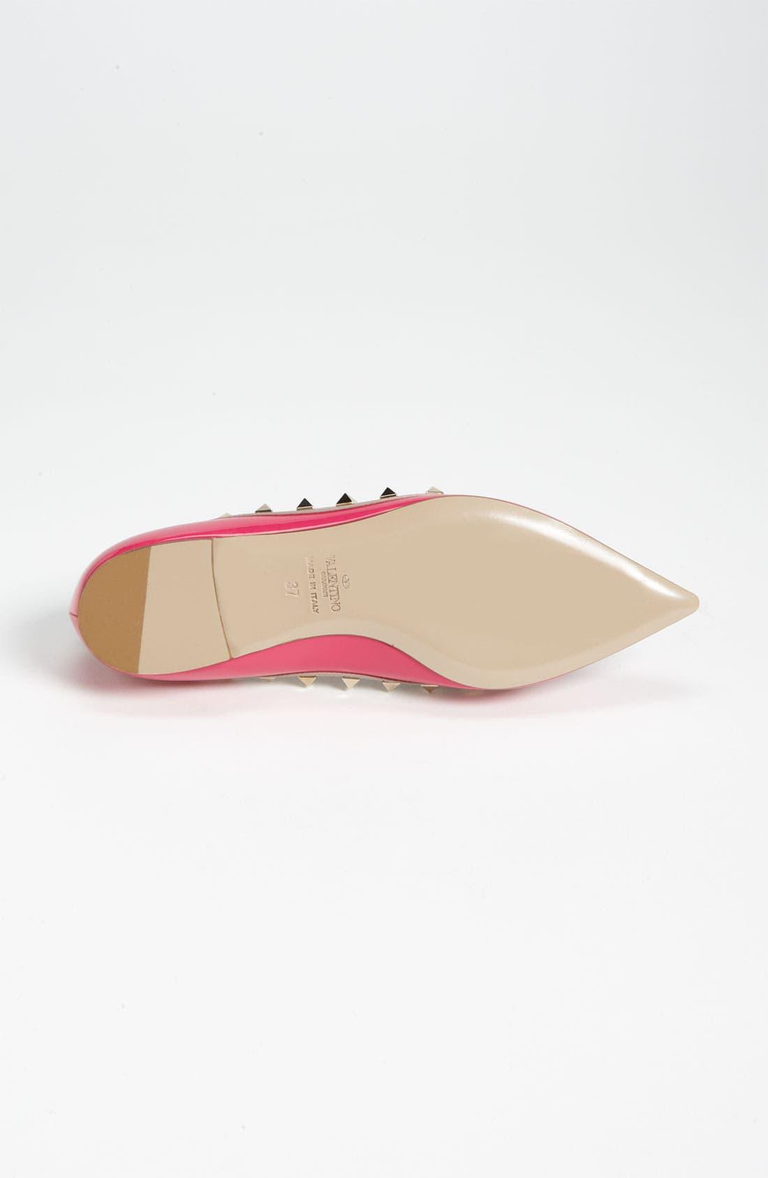Alternate Image 4  - Valentino Rockstud Ballerina Flat (Women)