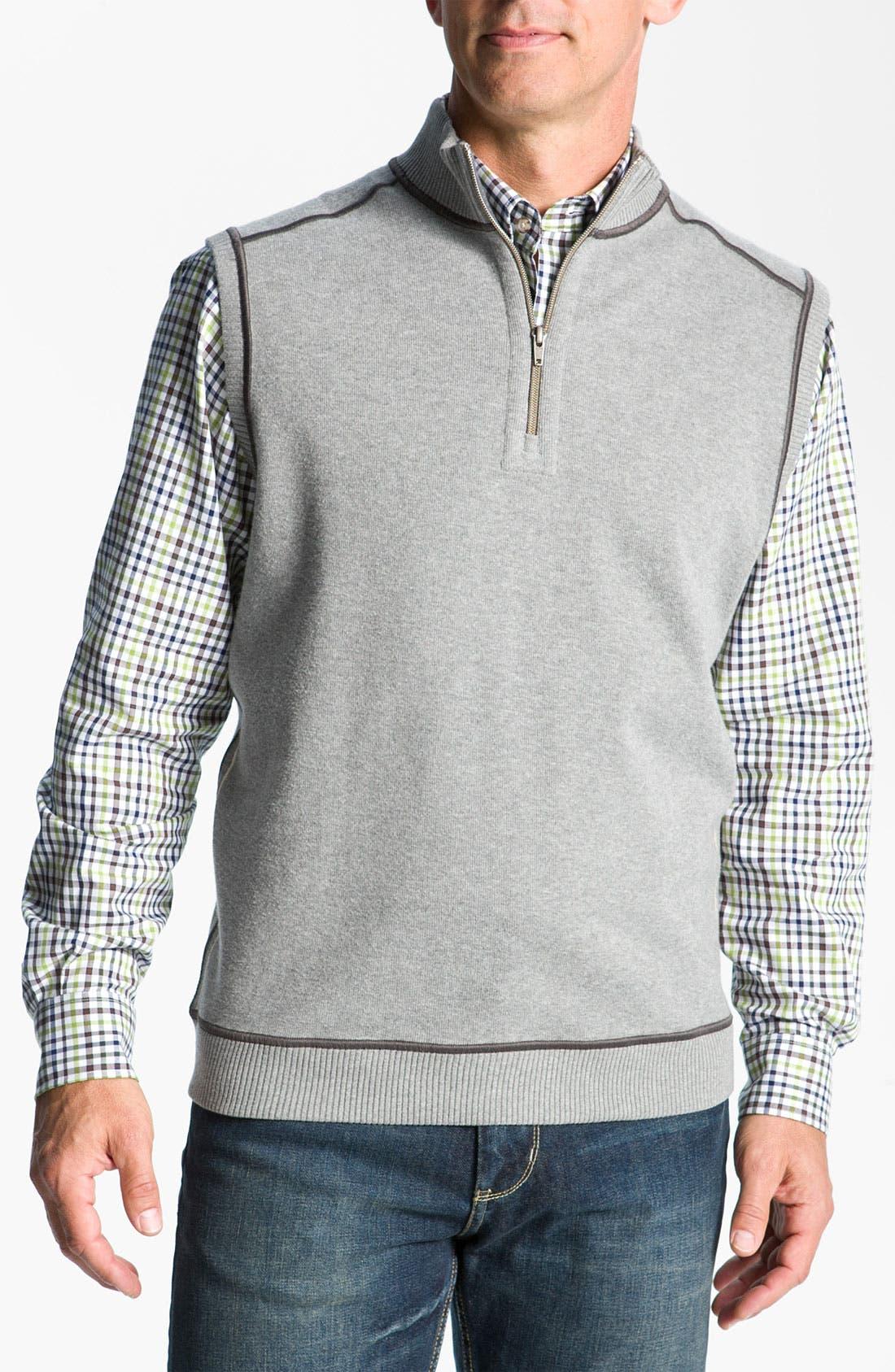 Main Image - Cutter & Buck 'Essex' Reversible Half Zip Vest