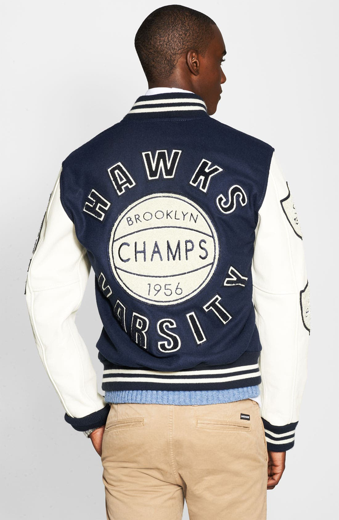 Alternate Image 2  - True Religion Varsity Letterman's Jacket