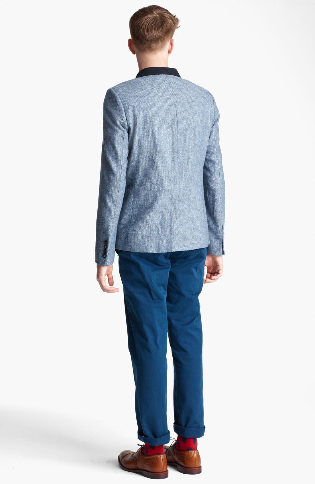 Alternate Image 2  - Topman Blazer, T-Shirt & Slim Fit Chinos