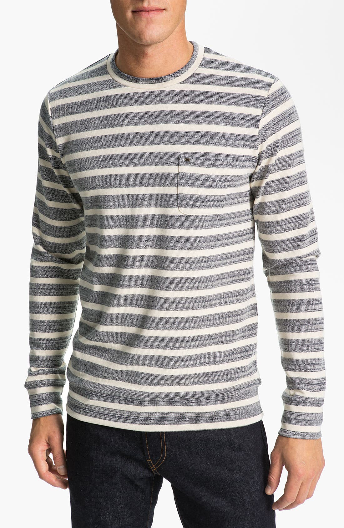 Alternate Image 1 Selected - Obey 'Cabe' Stripe Crewneck Sweater