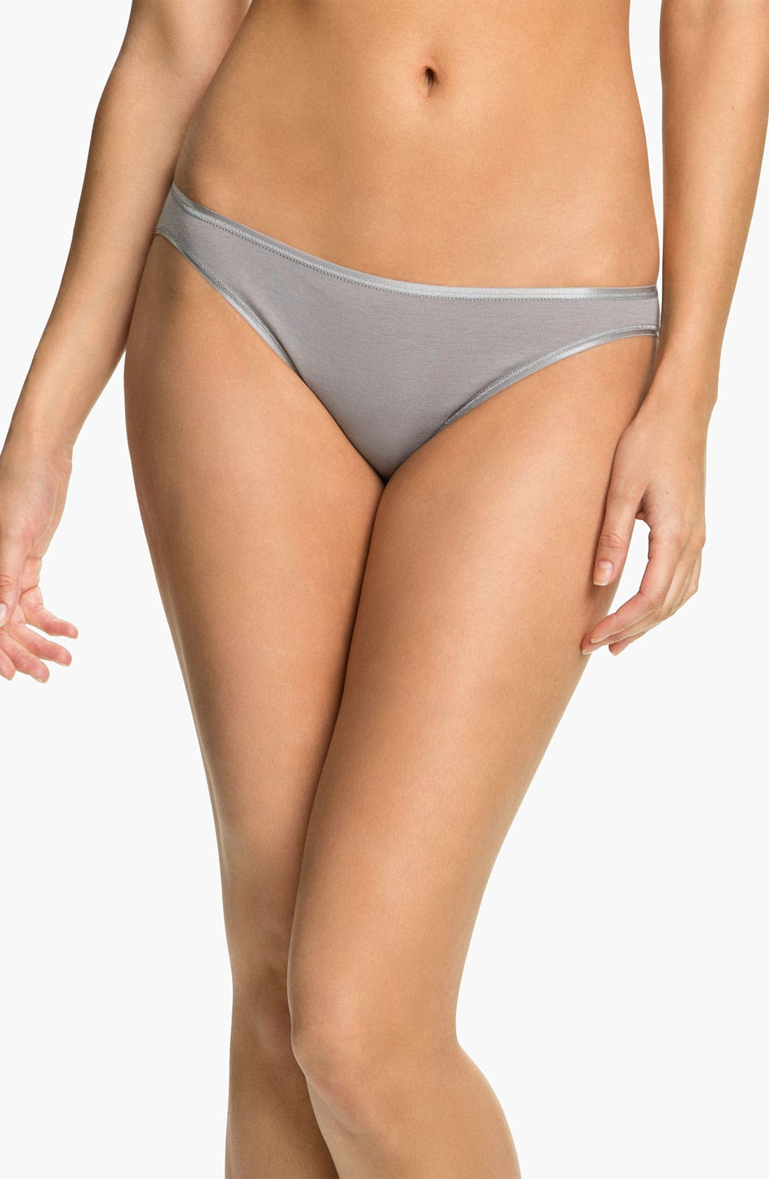 Alternate Image 1 Selected - Hanro Seamless Cotton Bikini