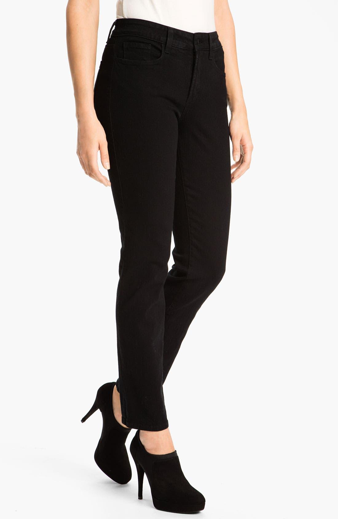 NYDJ 'Sheri' Stretch Skinny Jeans (Black) (Regular & Petite)