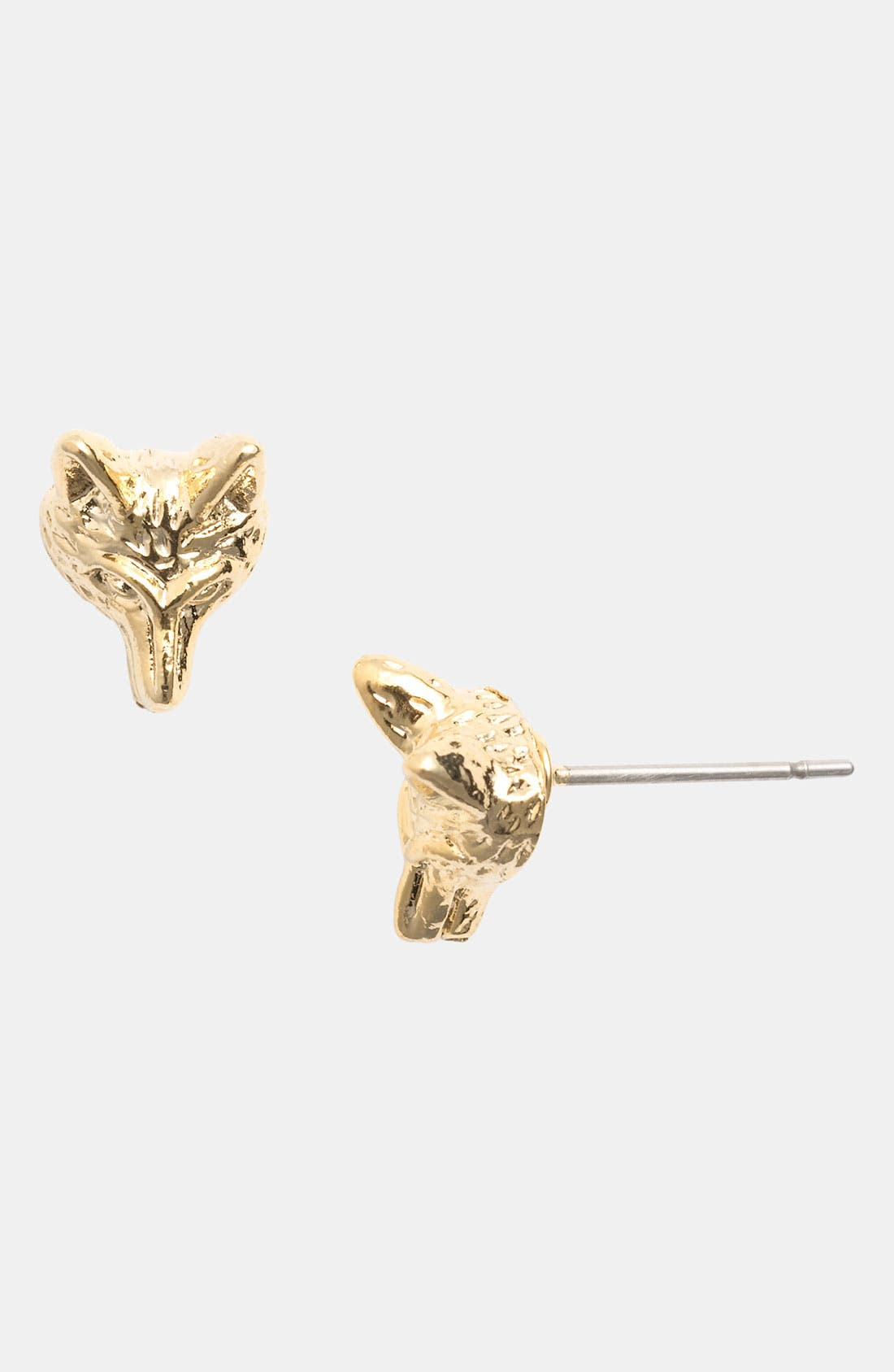 Alternate Image 1 Selected - Tory Burch 'Fox Head' Stud Earrings