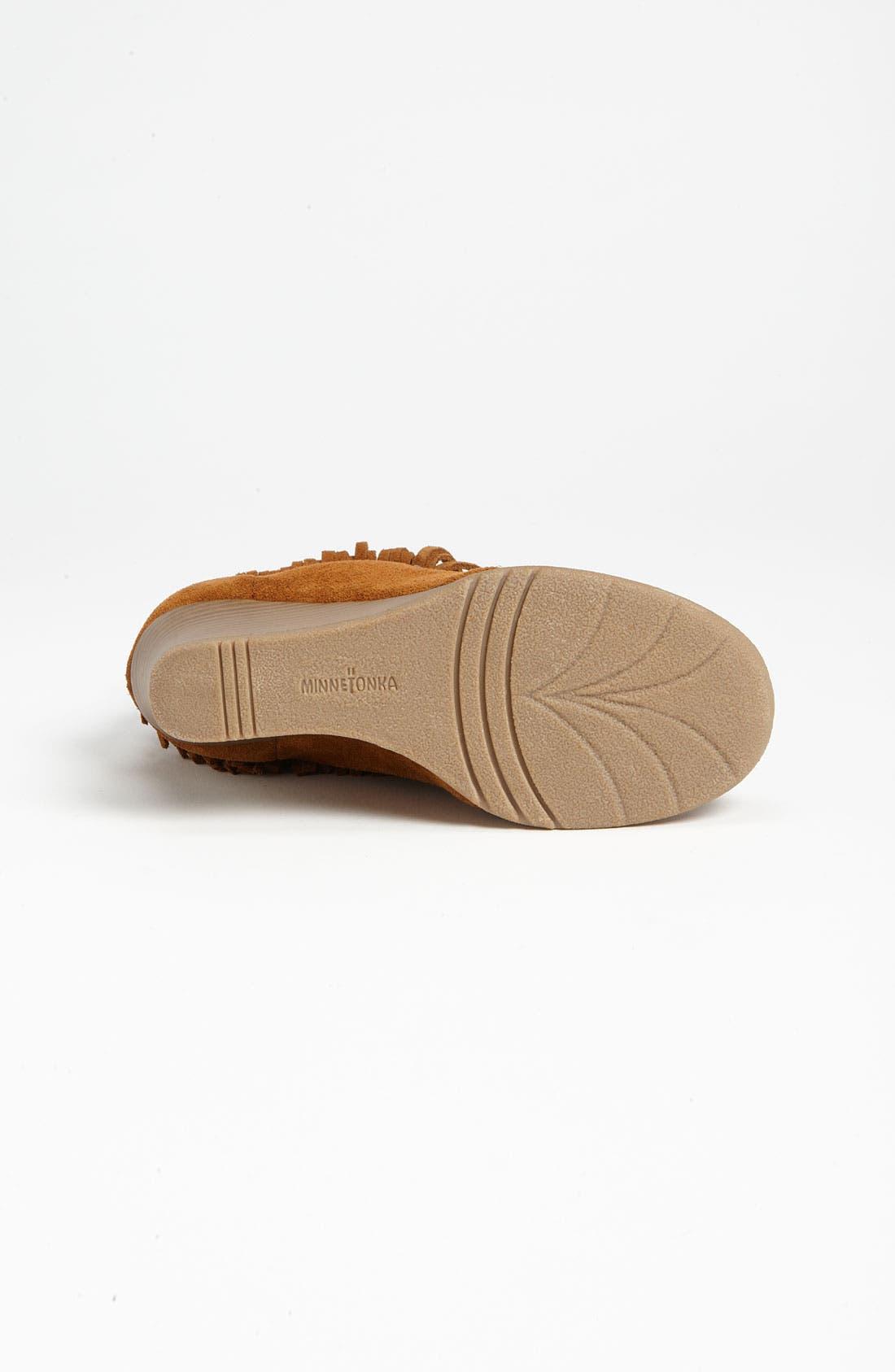 Alternate Image 4  - Minnetonka Lace-Up Fringe Ankle Boot