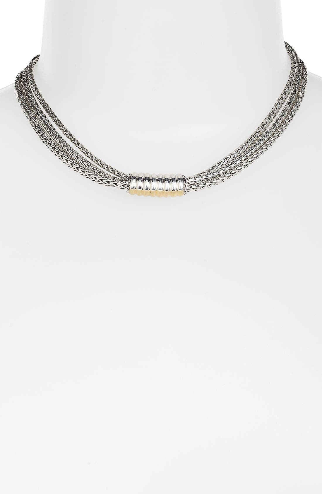 Alternate Image 1 Selected - John Hardy 'Bedeg' Triple Row Chain Necklace