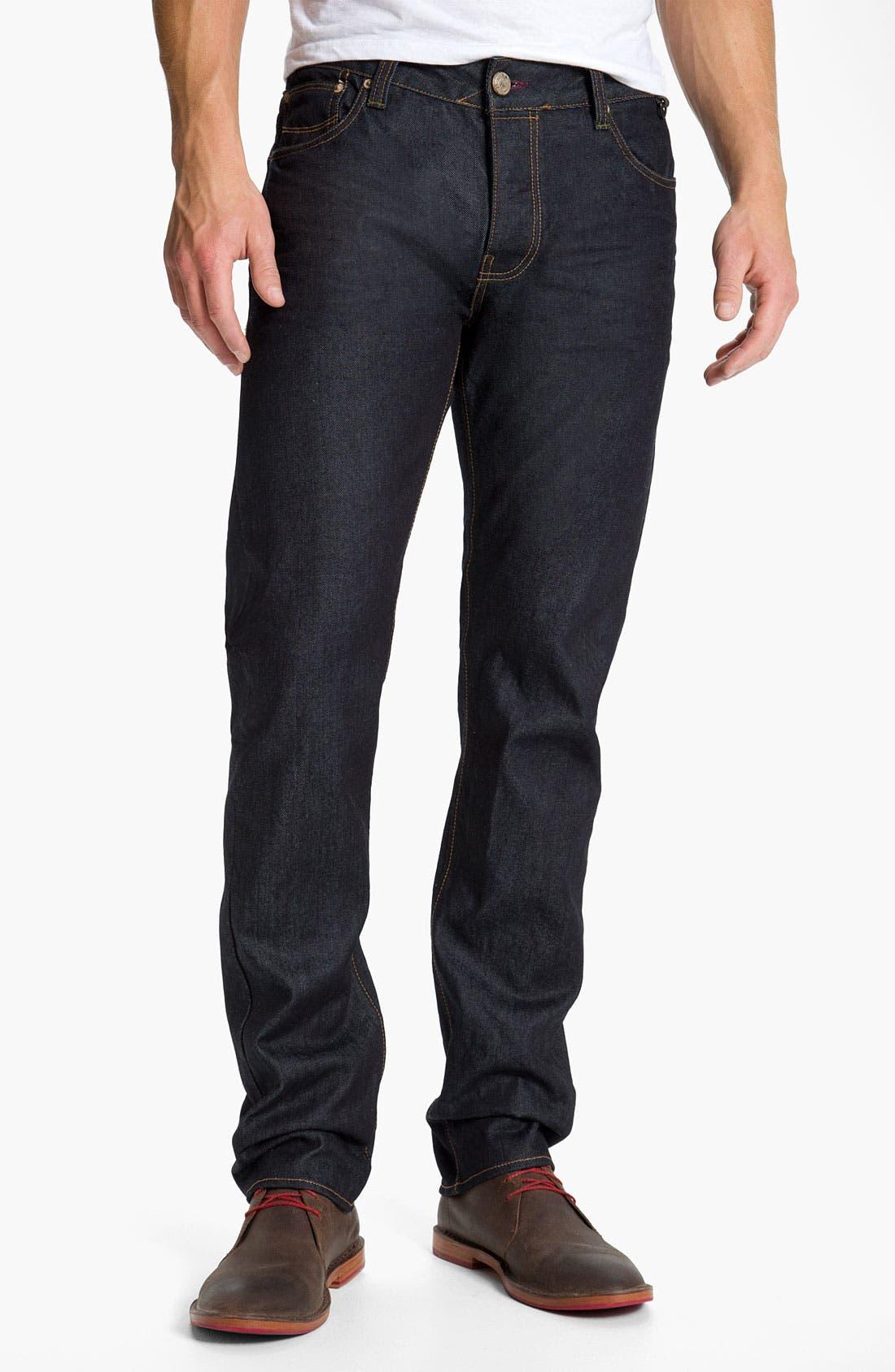 Main Image - Ted Baker London Straight Leg Jeans (Rinse Denim)
