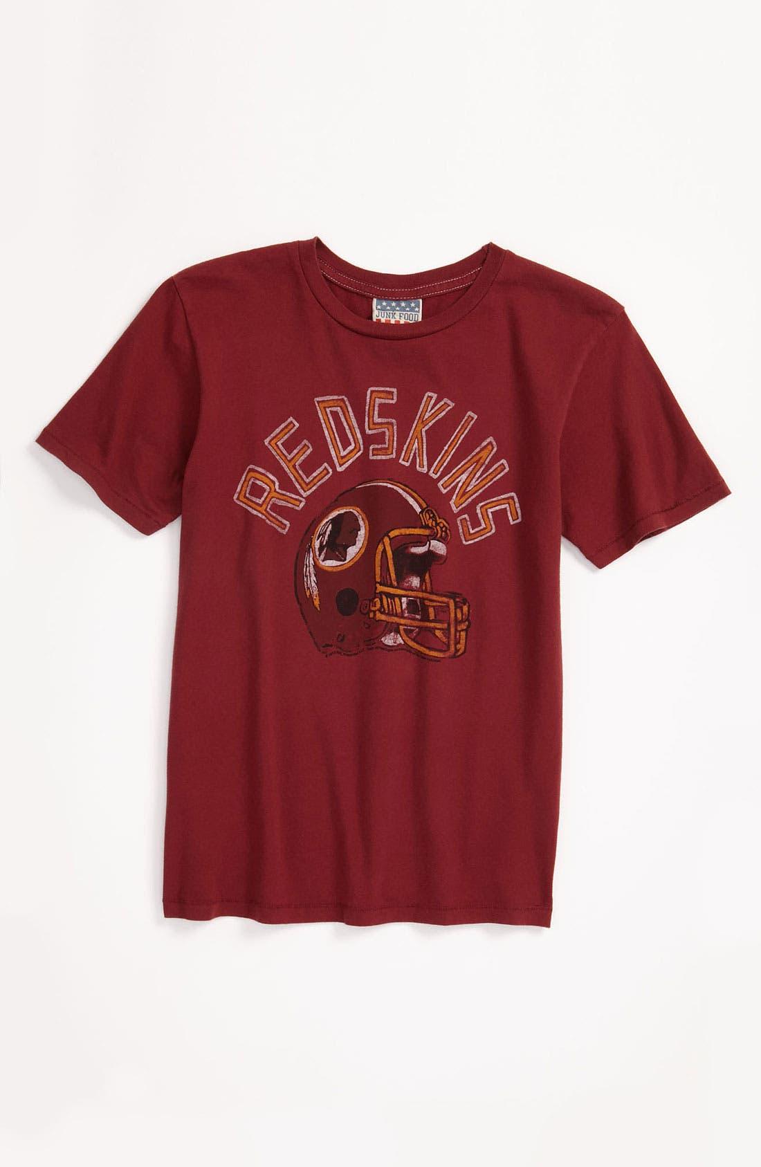 Alternate Image 1 Selected - Junk Food 'Washington Redskins' T-Shirt (Little Boys & Big Boys)