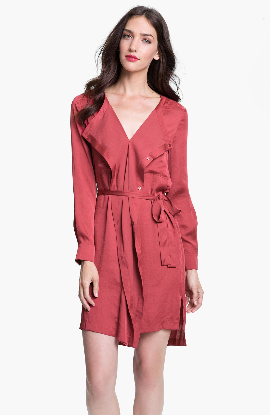 Alternate Image 1 Selected - BCBGMAXAZRIA 'Tarin' Cascade Shirtdress