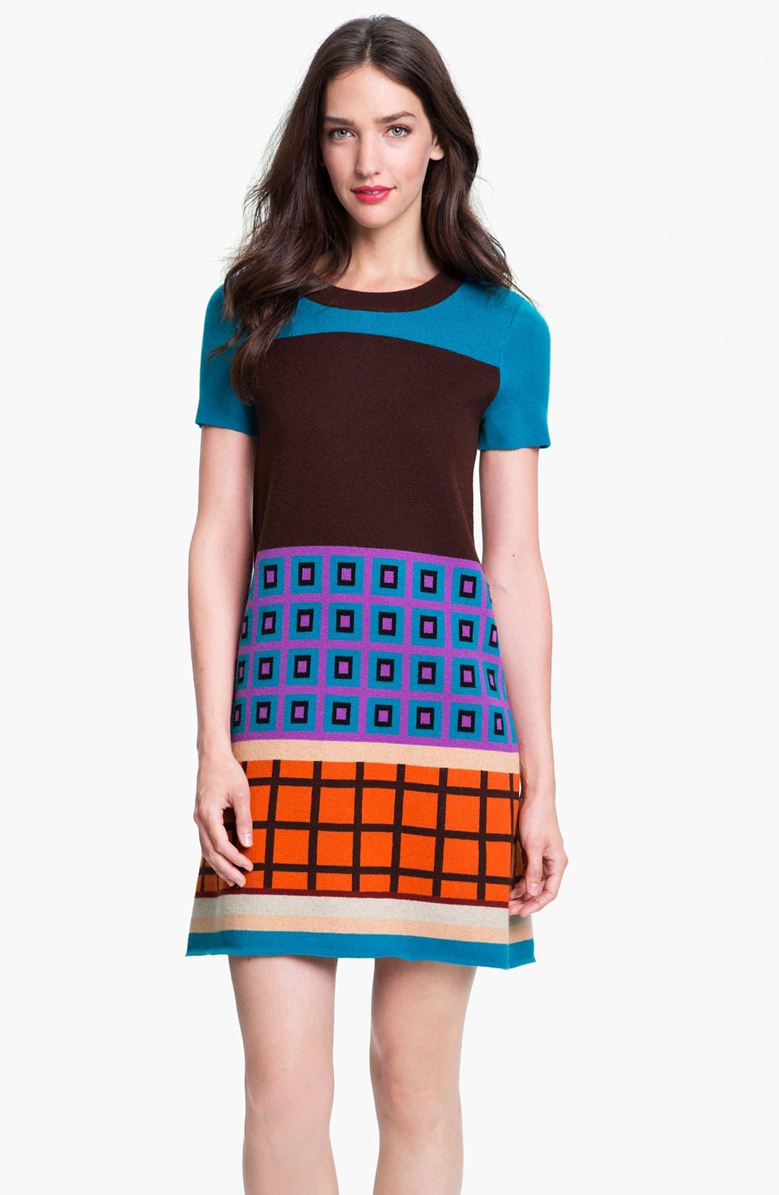Main Image - kate spade new york 'freyda' wool blend sweater shift dress