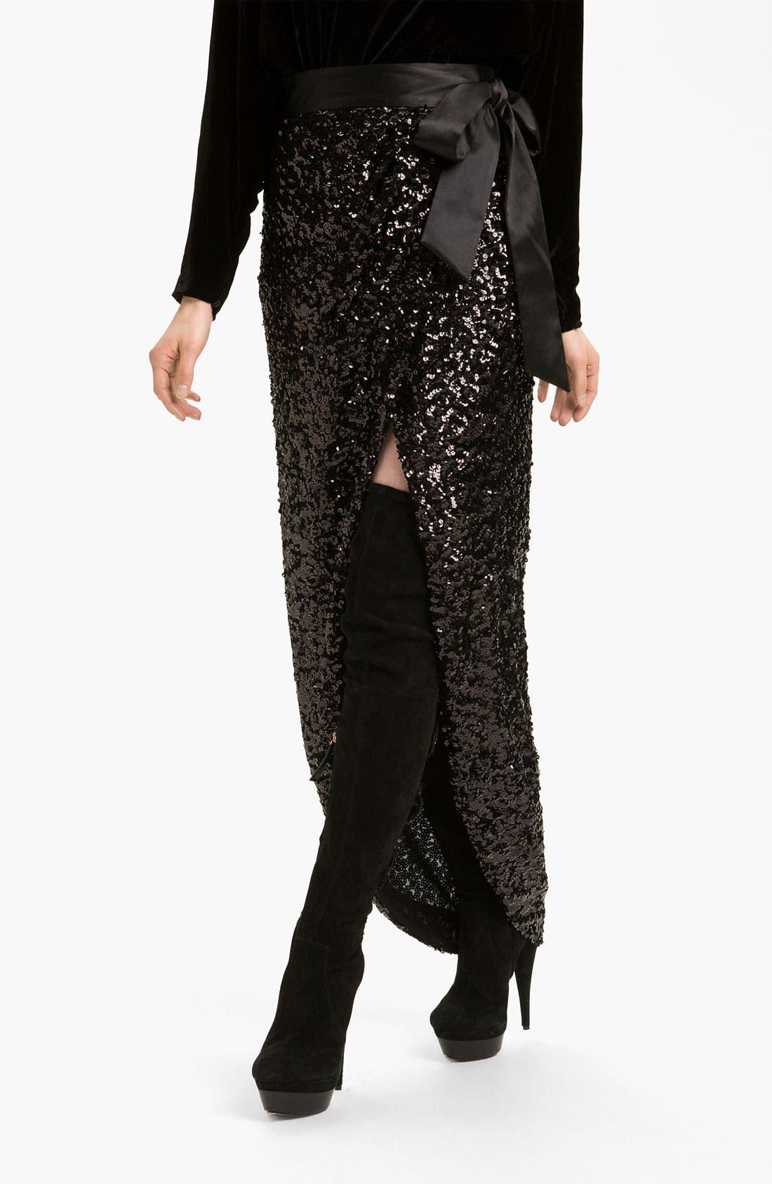 Alternate Image 1 Selected - Rachel Zoe 'Abbey' Sequin Maxi Skirt