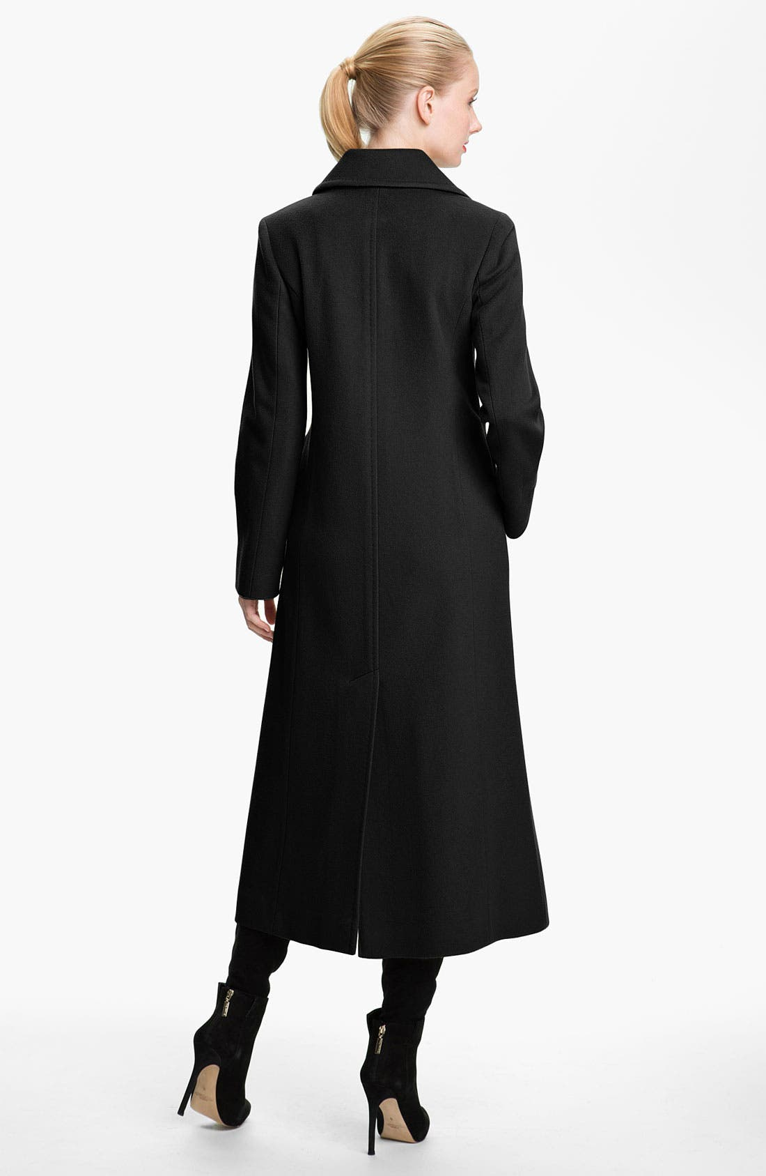 Alternate Image 2  - Fleurette Notch Collar Long Coat