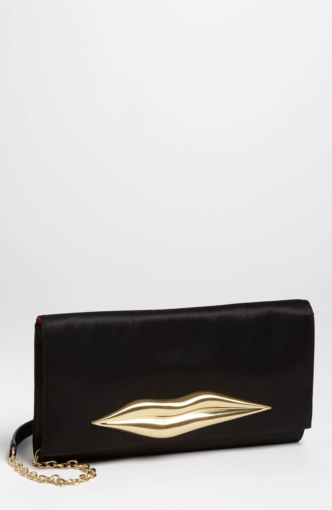 Main Image - Diane von Furstenberg 'Carolina Lip' Satin Clutch