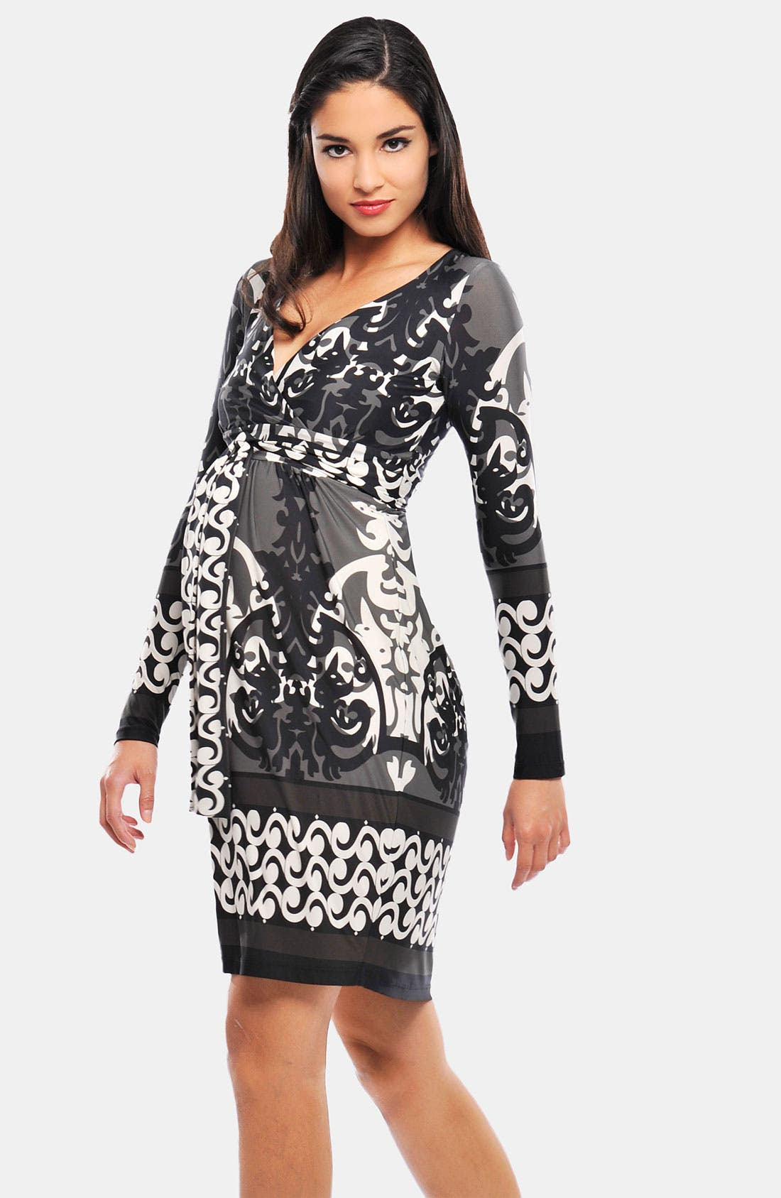 Alternate Image 1 Selected - Olian Geometric Print Maternity Maxi Dress