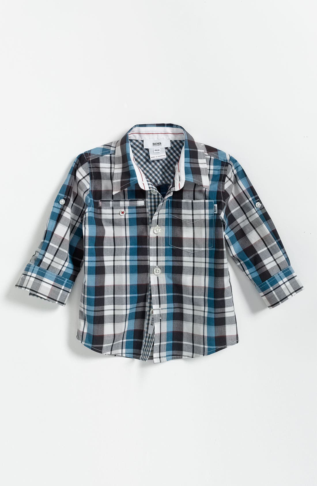 Main Image - BOSS Kidswear Check Print Shirt (Toddler)