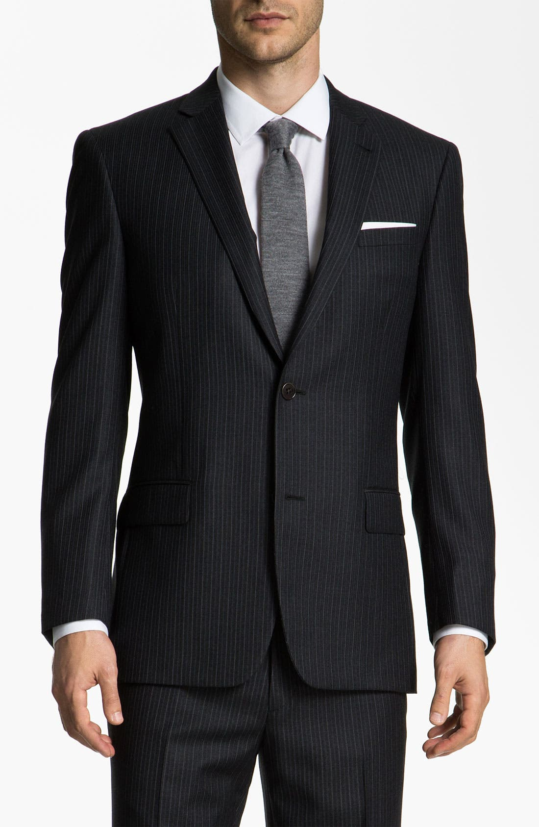Main Image - John Varvatos Star USA 'Bedford' Trim Fit Stripe Suit