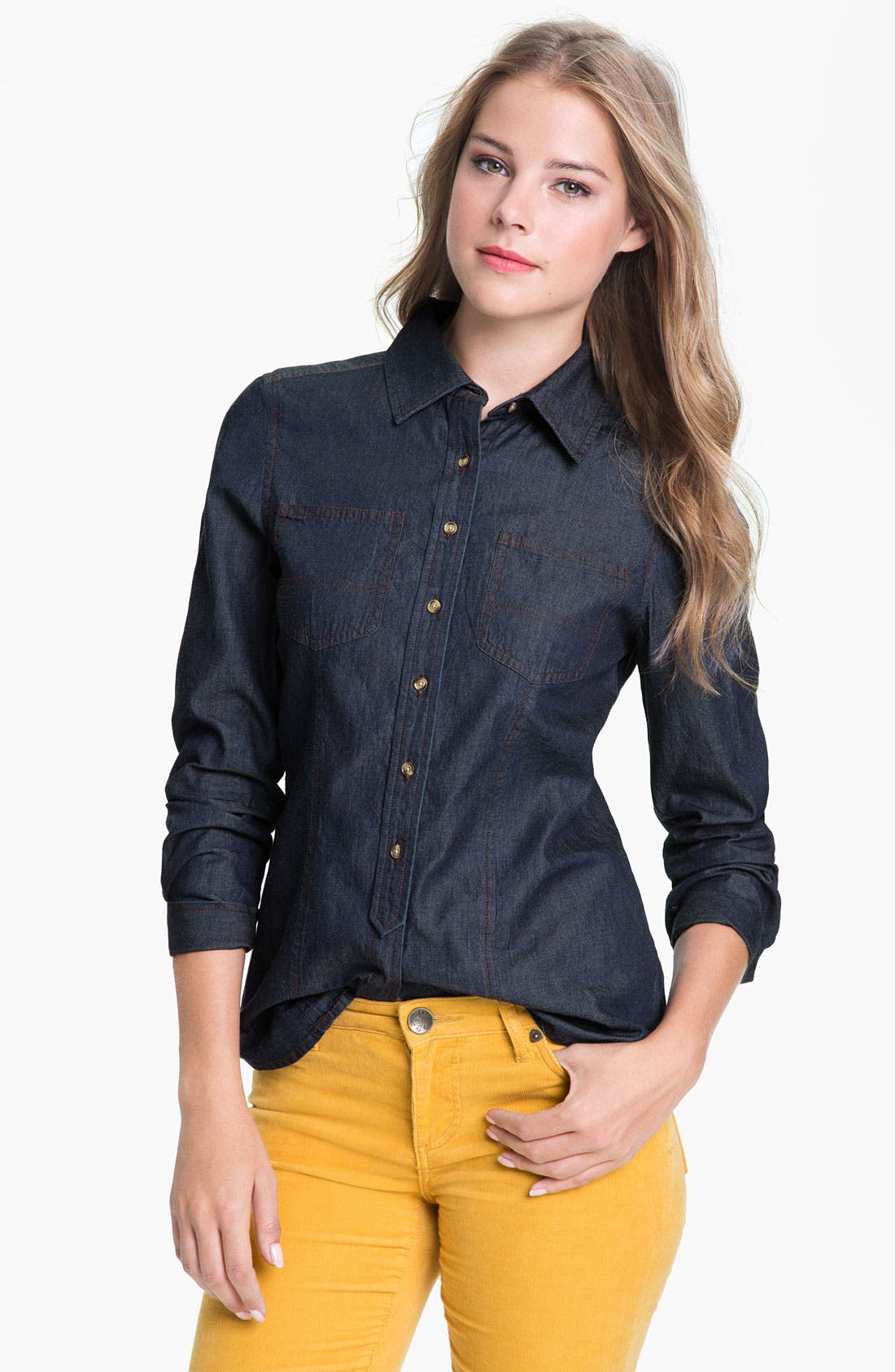 Main Image - Pendleton Denim Shirt (Online Exclusive)