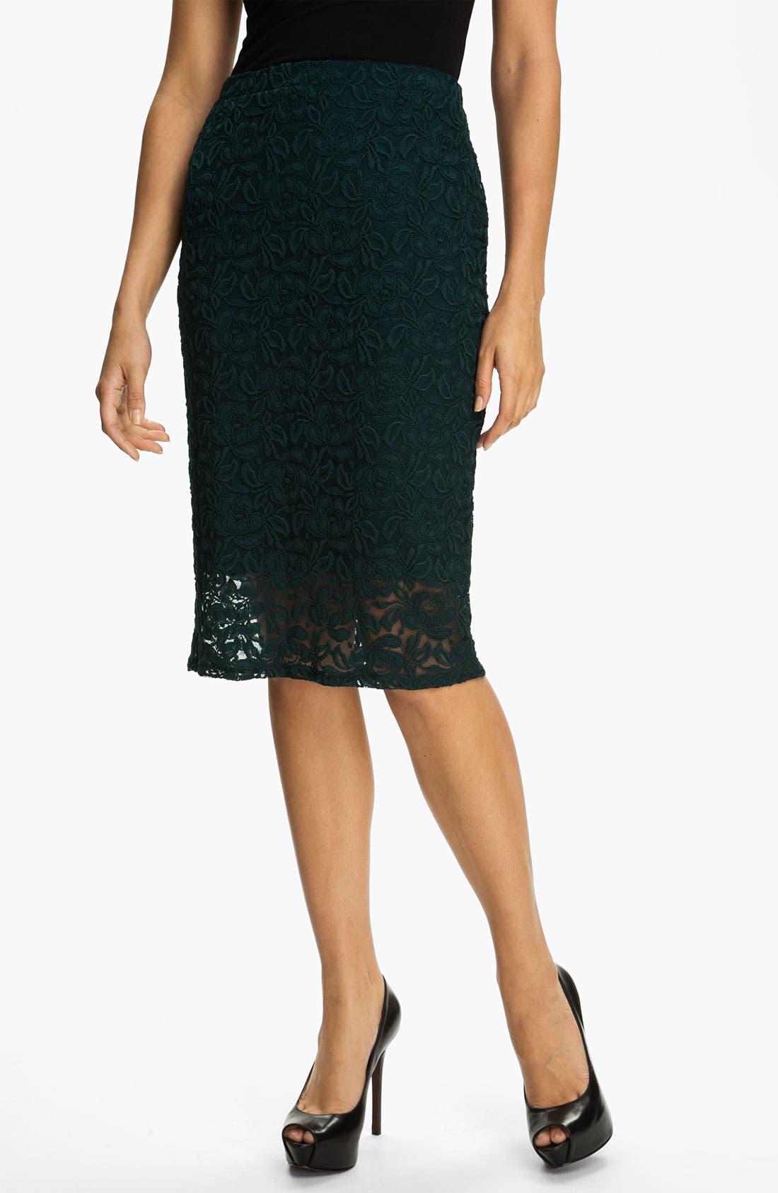 Main Image - Bobeau Lace Midi Skirt