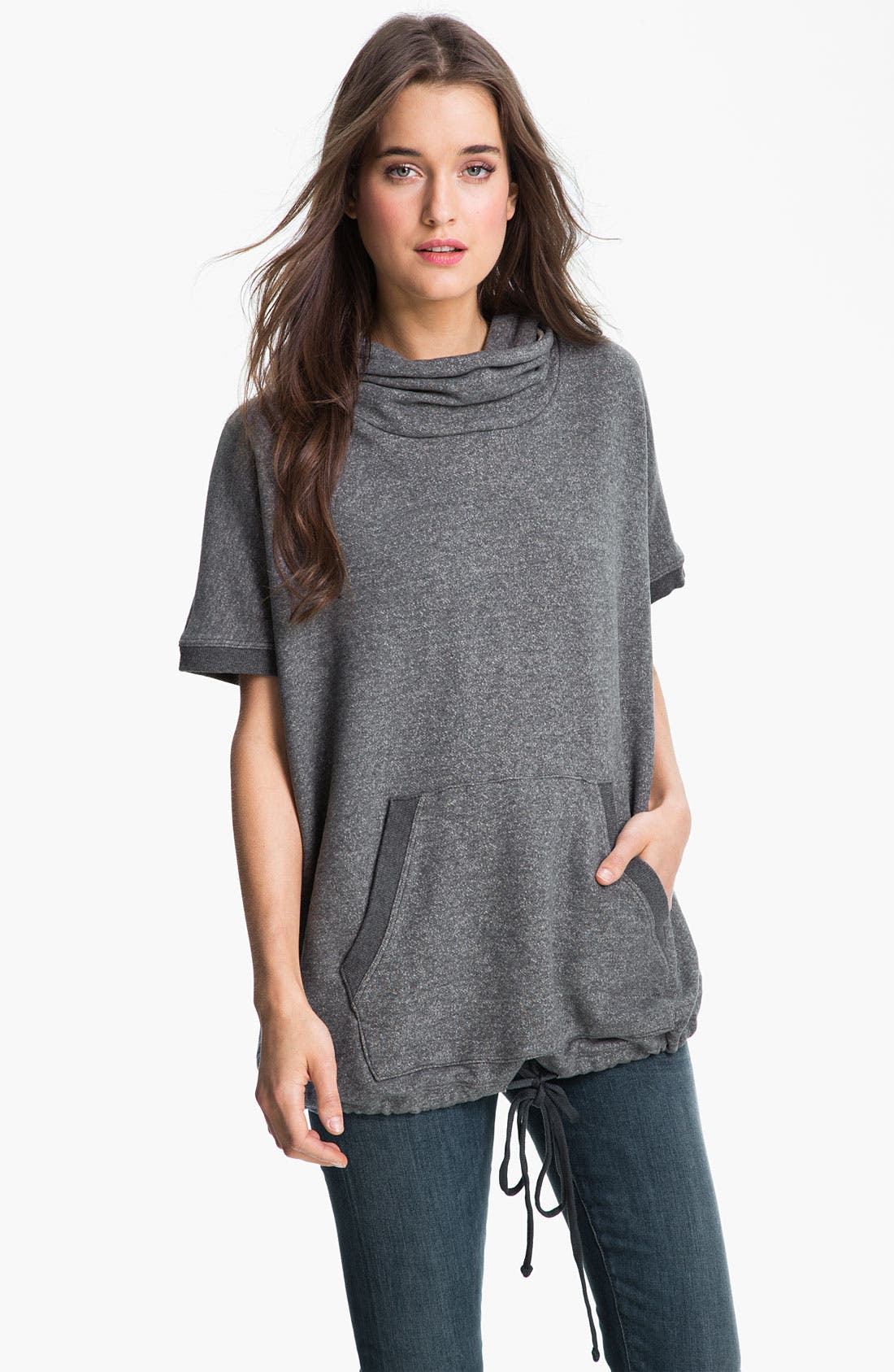 Alternate Image 1 Selected - James Perse Hooded Poncho Pullover