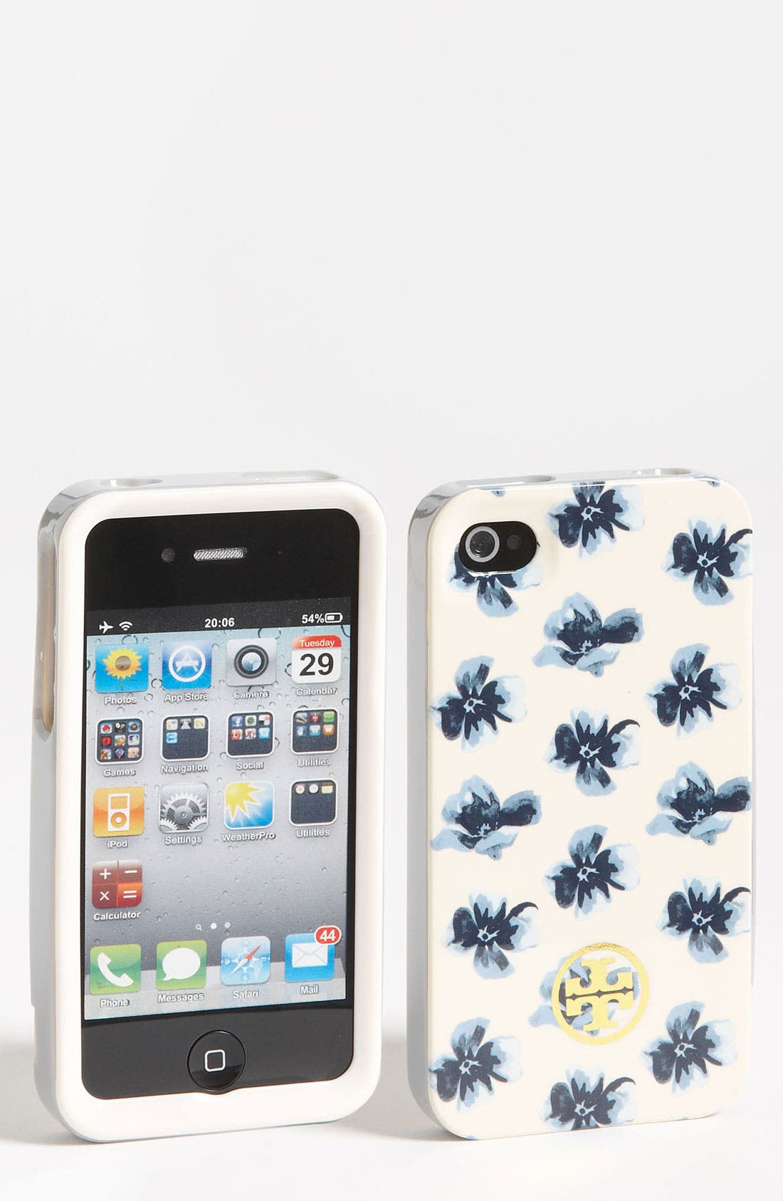 Main Image - Tory Burch Floral iPhone 4 & 4S Case