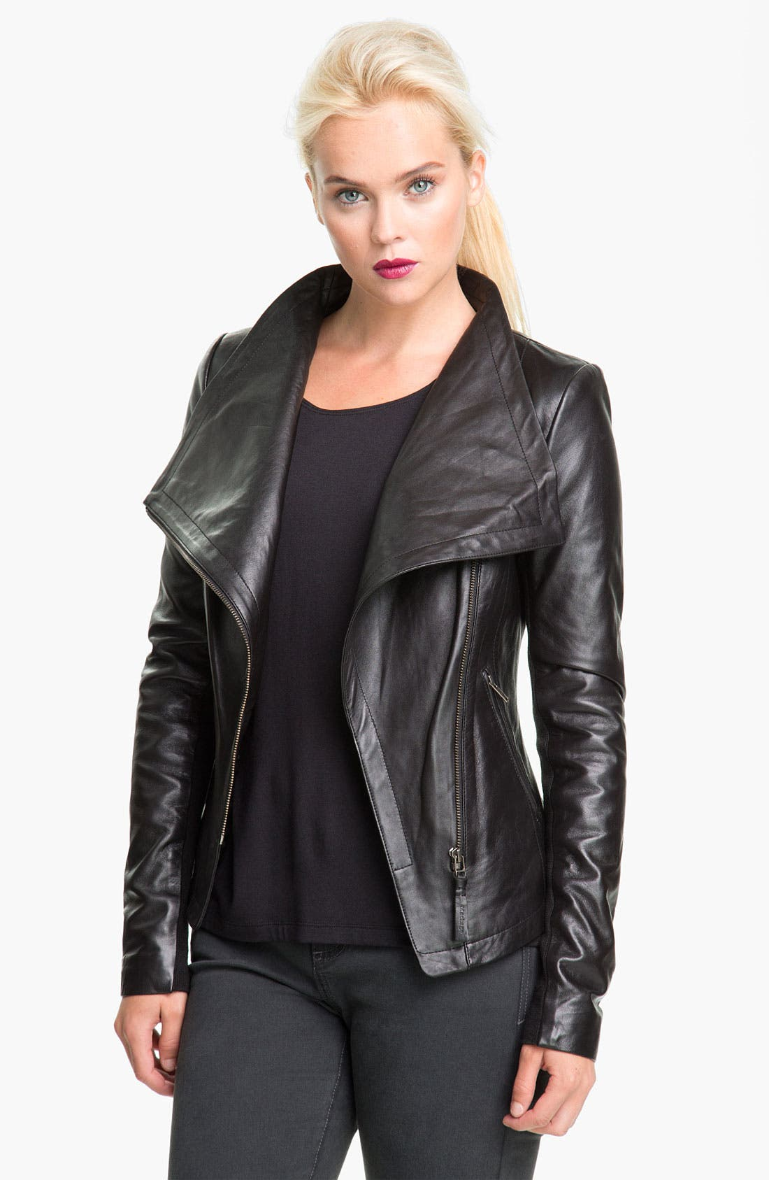 Alternate Image 2  - Mackage 'Jora' Genuine Coyote Fur Collar Leather Jacket with Removable Vest