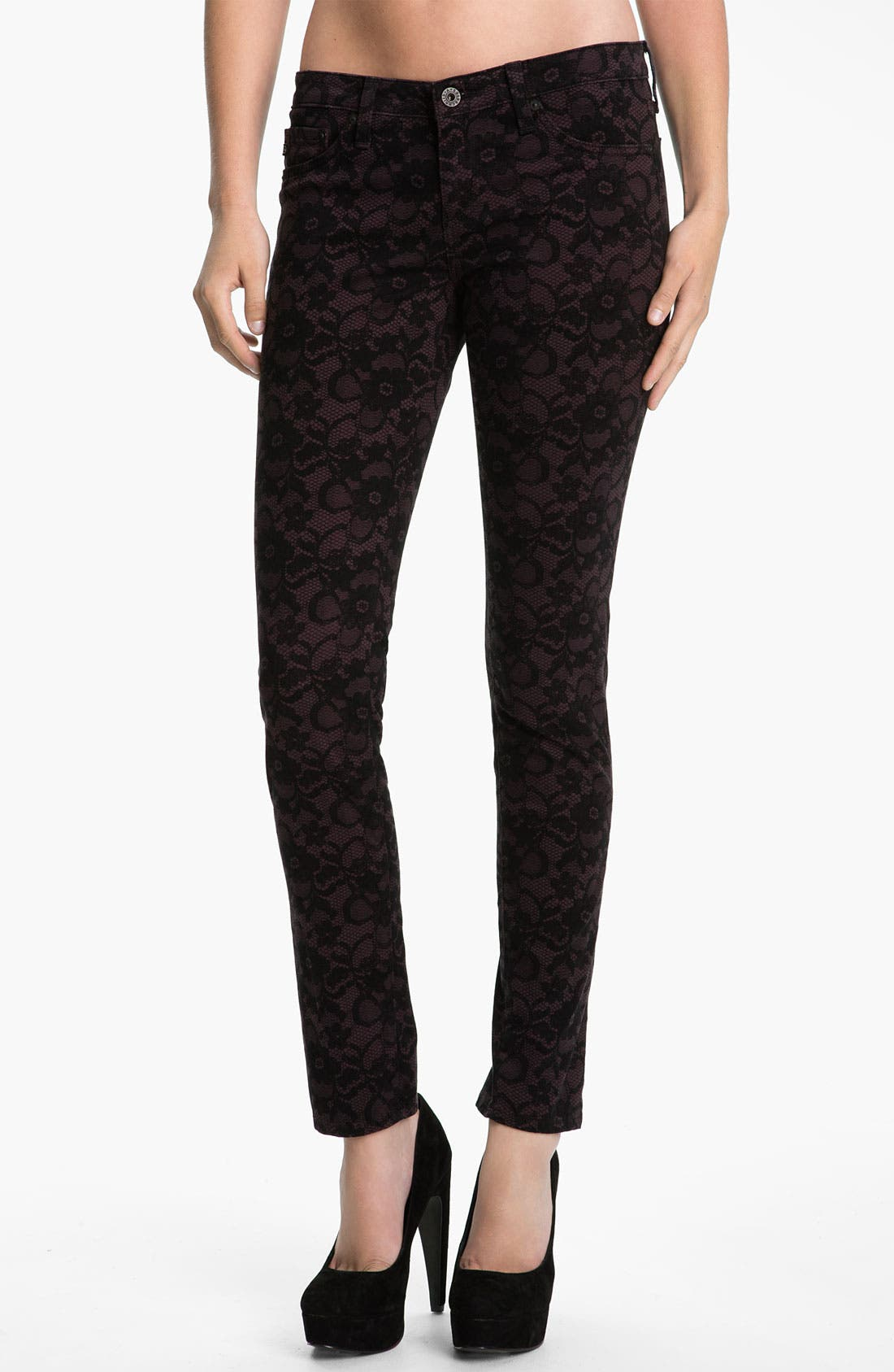 Main Image - AG Jeans Skinny Stretch Jeans (Lace Concord)