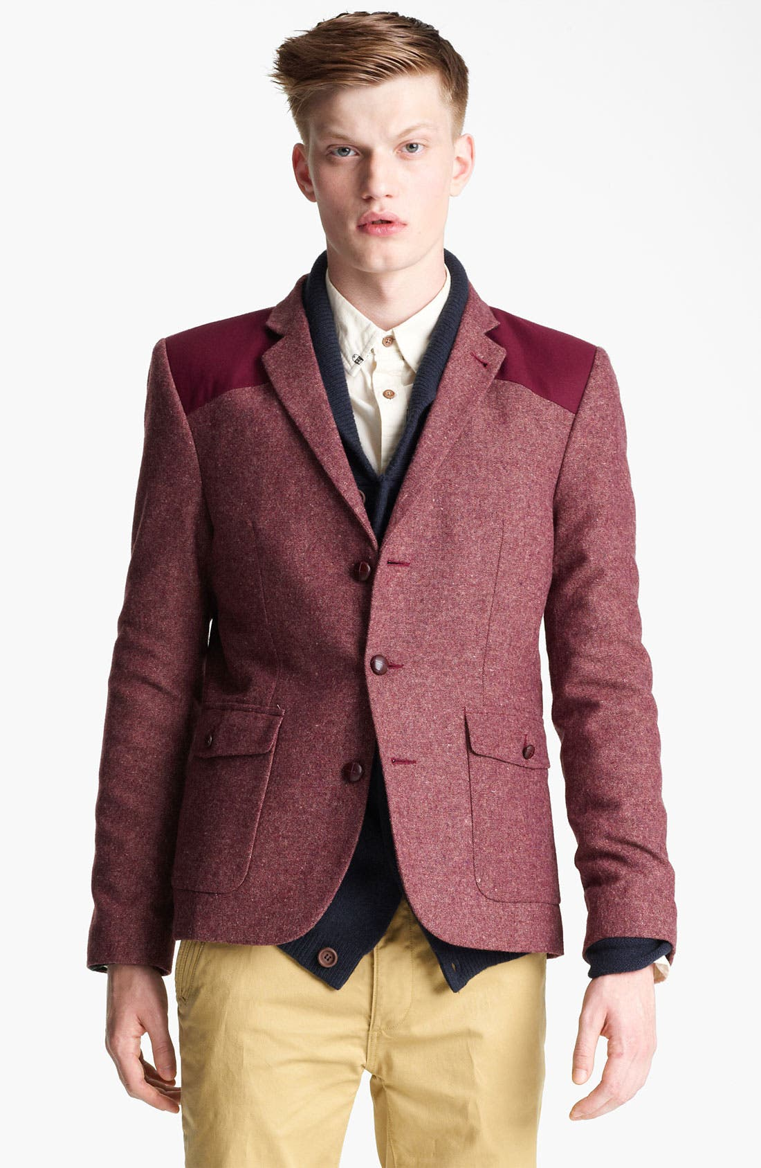 Alternate Image 1 Selected - Topman Heritage Fit Donkey Blazer