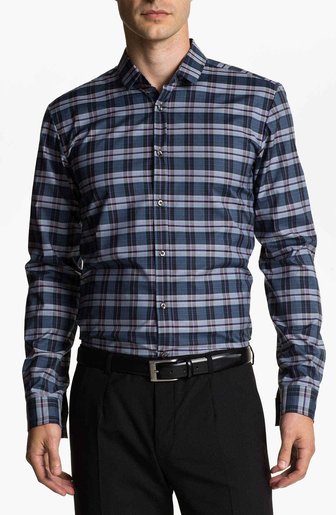 Alternate Image 1 Selected - HUGO 'Ero' Slim Fit Sport Shirt