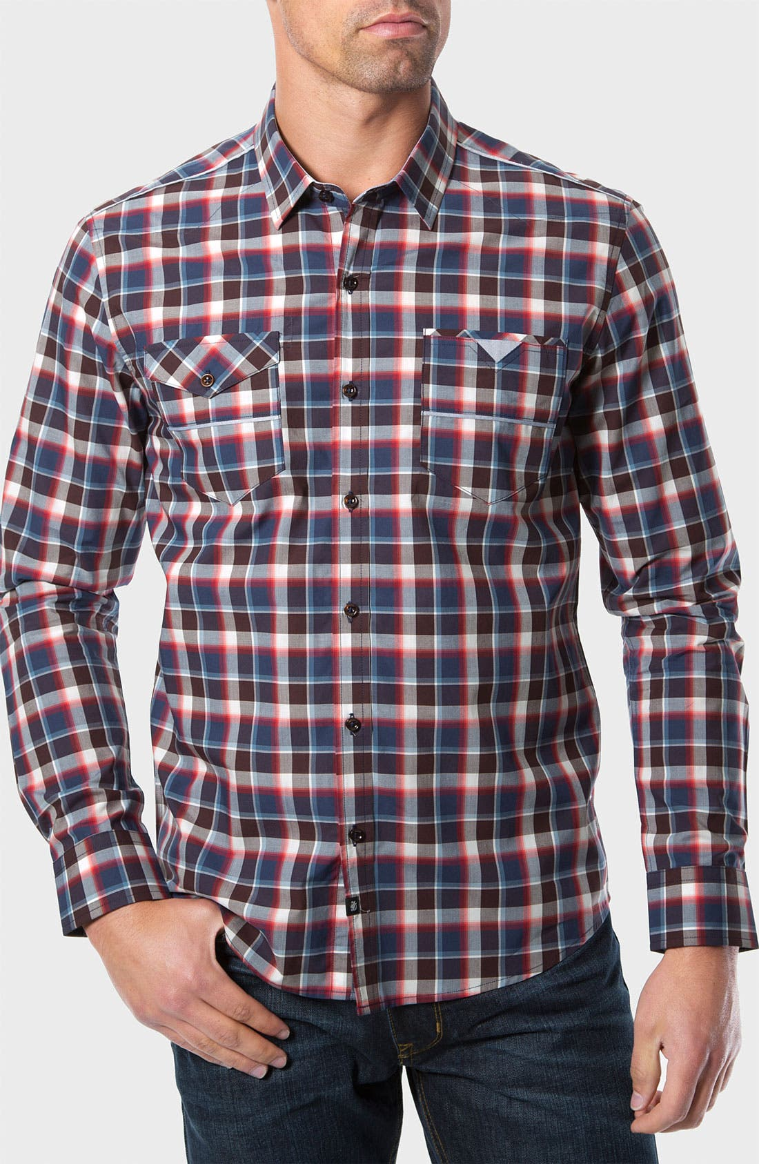 Alternate Image 1 Selected - 7 Diamonds 'The Ride' Check Trim Fit Cotton Sport Shirt