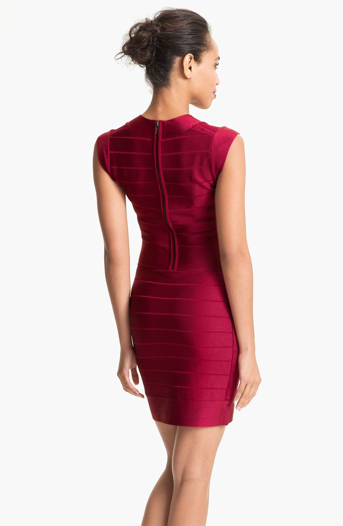 Alternate Image 2  - French Connection Banded Cap Sleeve Minidress