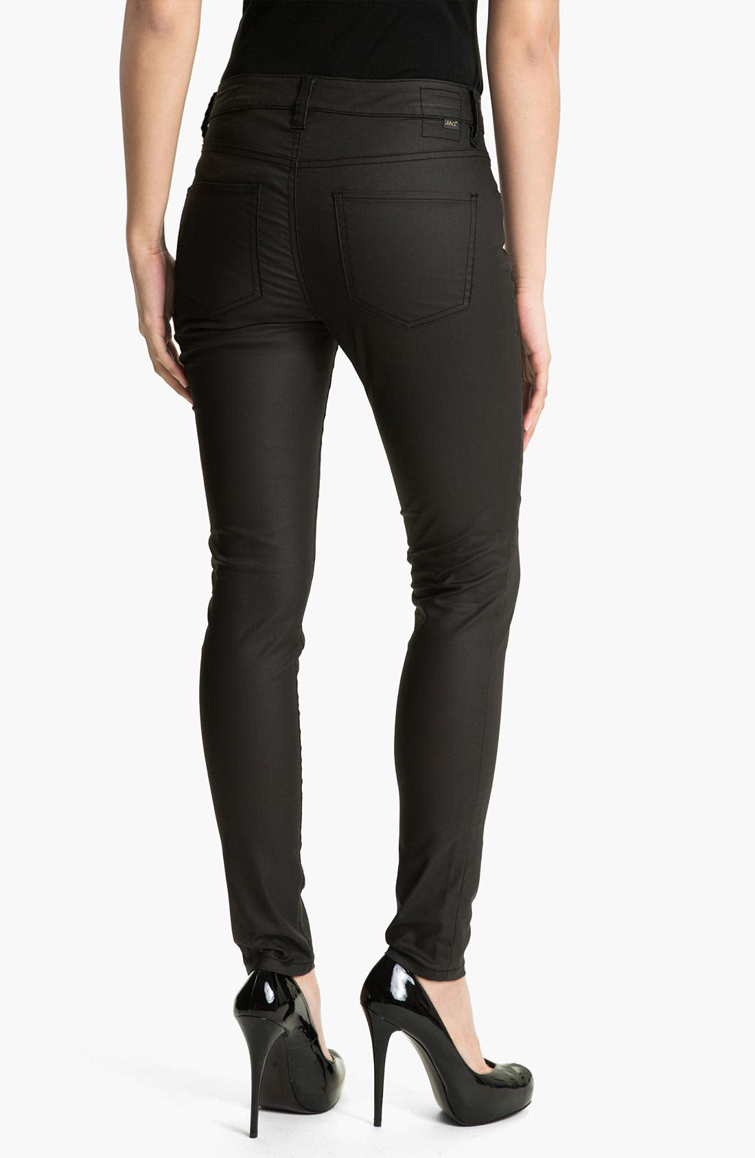 Alternate Image 2  - Jag Jeans 'Chloe' Faux Leather Pants (Petite)