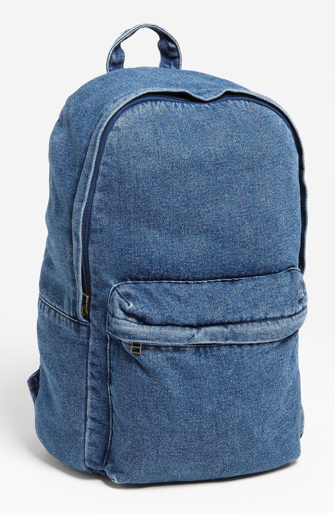 Alternate Image 1 Selected - Topman Denim Backpack