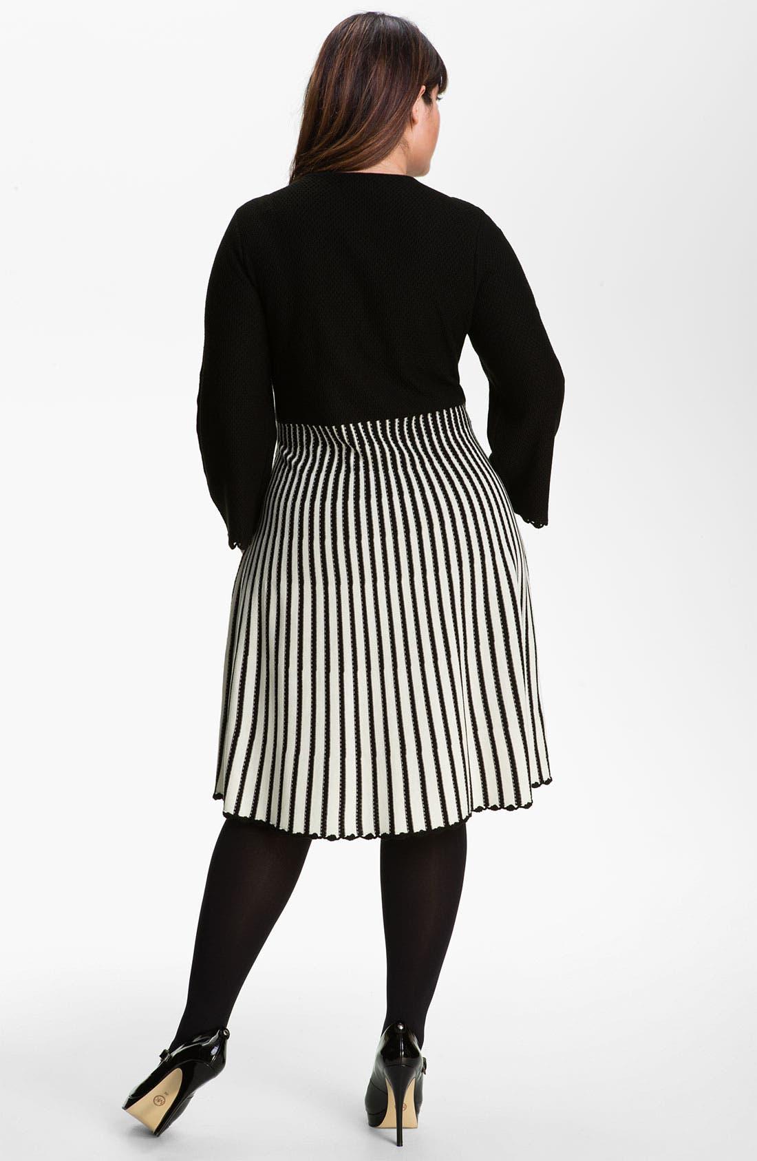 Alternate Image 2  - Calvin Klein Sweater Dress (Plus)