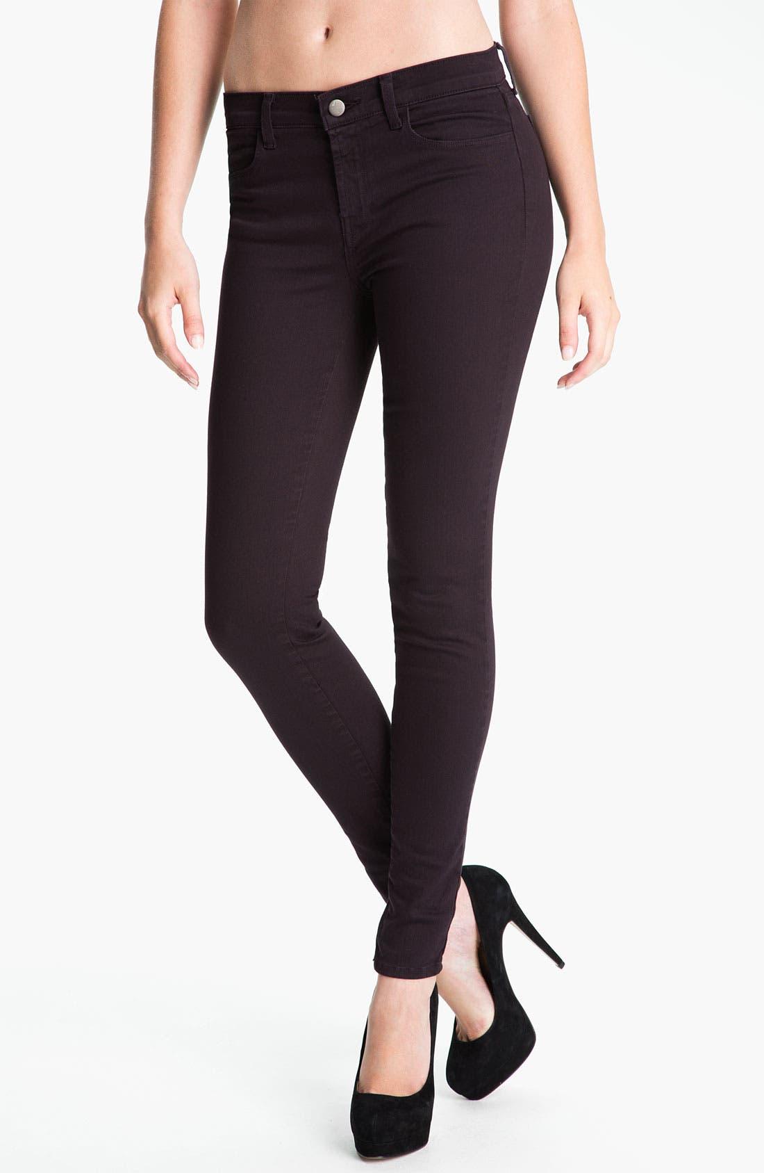 Alternate Image 1 Selected - J Brand Overdyed Super Skinny Jeans