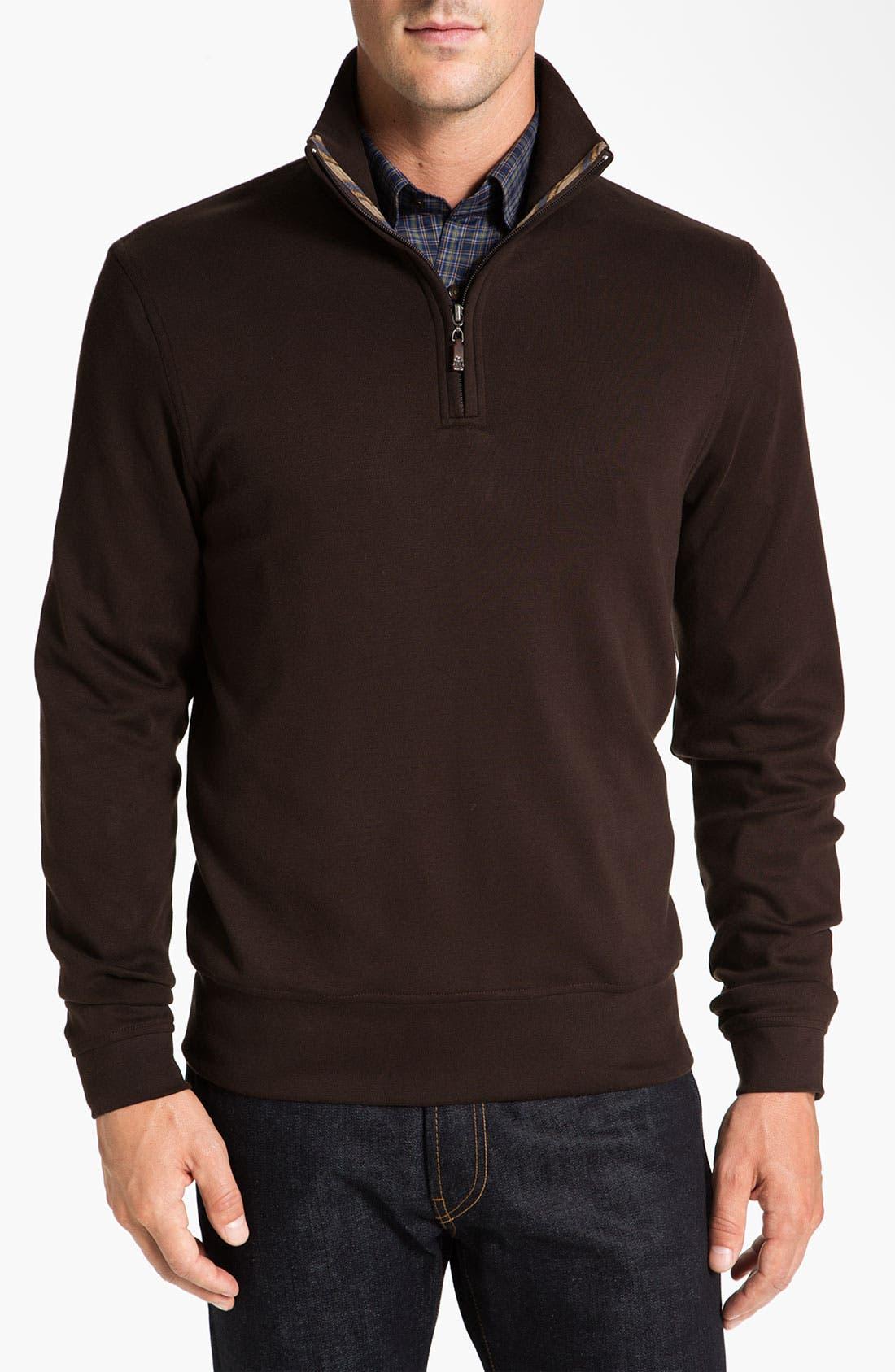 Alternate Image 1 Selected - Robert Talbott Quarter Zip Sweatshirt