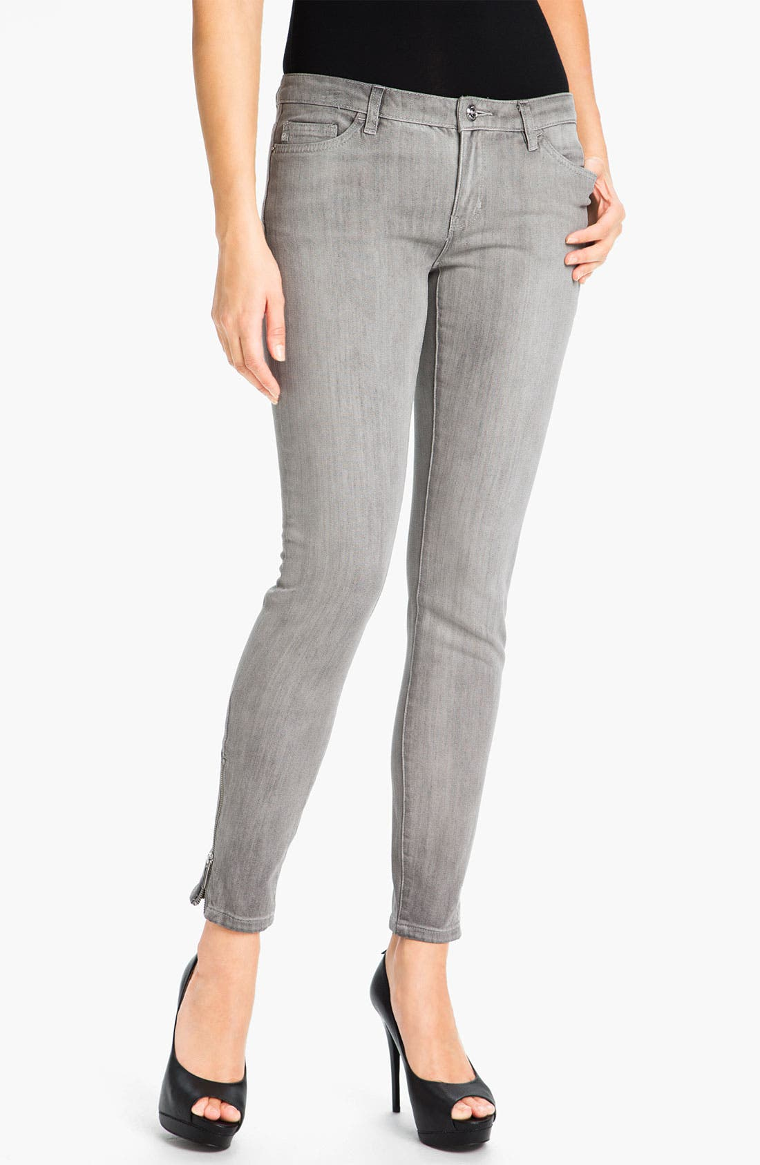 Alternate Image 1 Selected - MICHAEL Michael Kors Skinny Ankle Zip Jeans