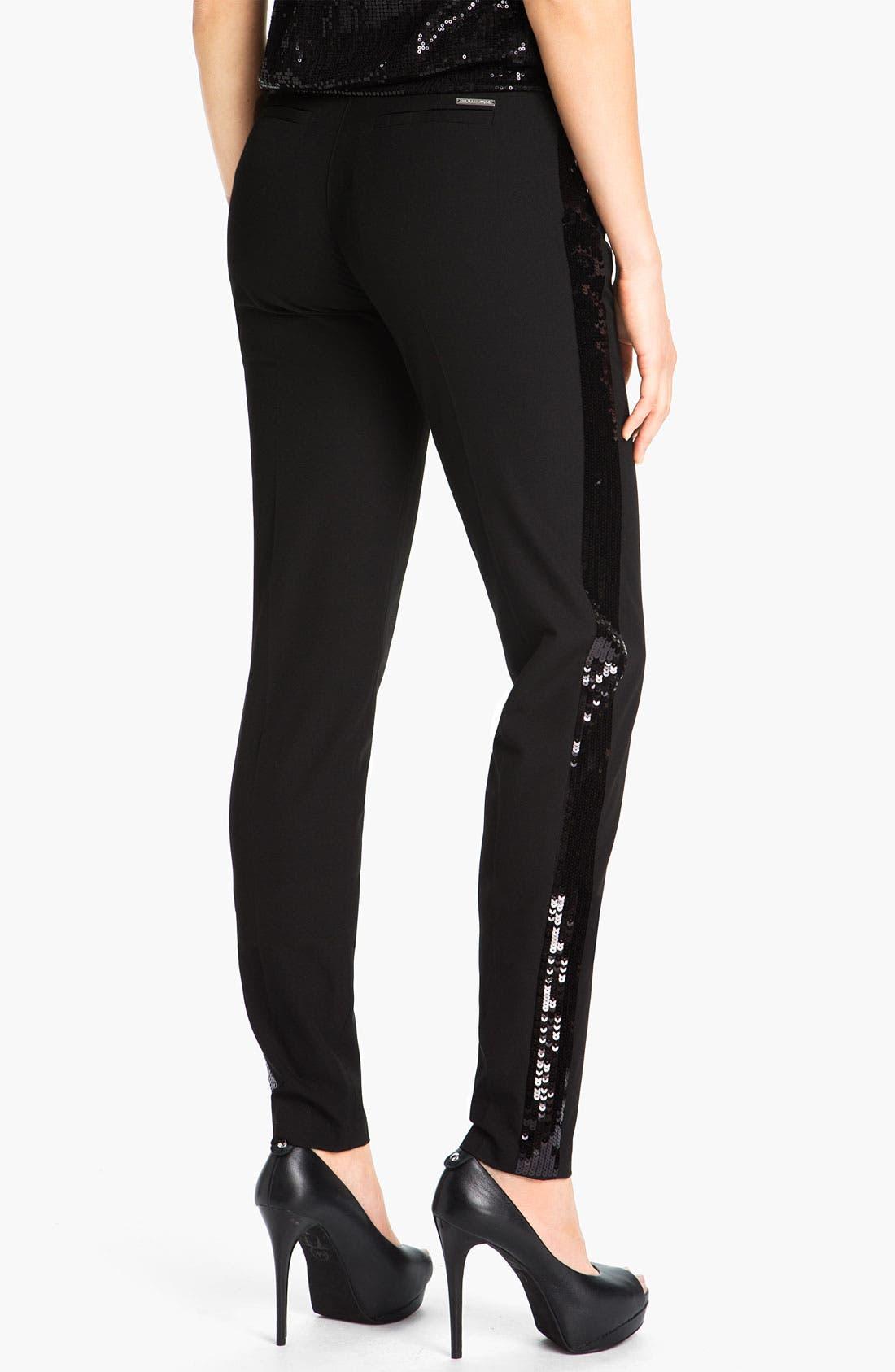 Alternate Image 2  - MICHAEL Michael Kors Sequin Tuxedo Pants