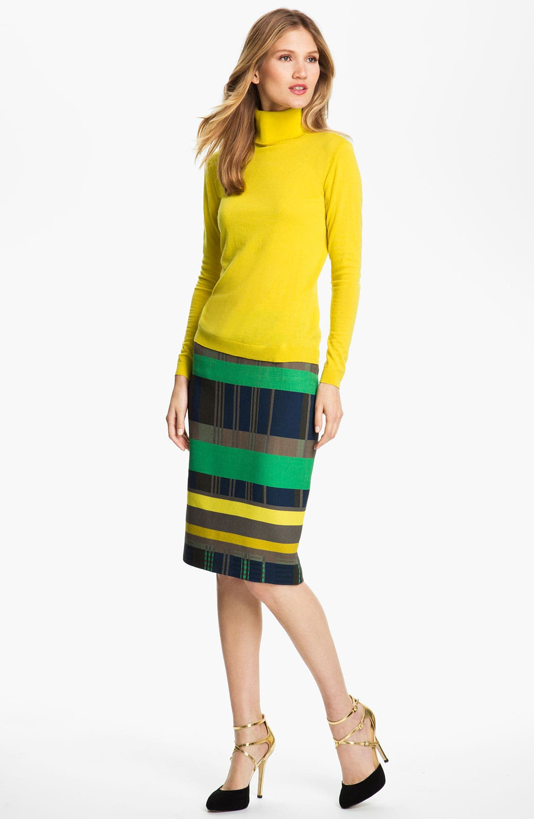 Alternate Image 4  - Lafayette 148 New York Cubism Print Skirt