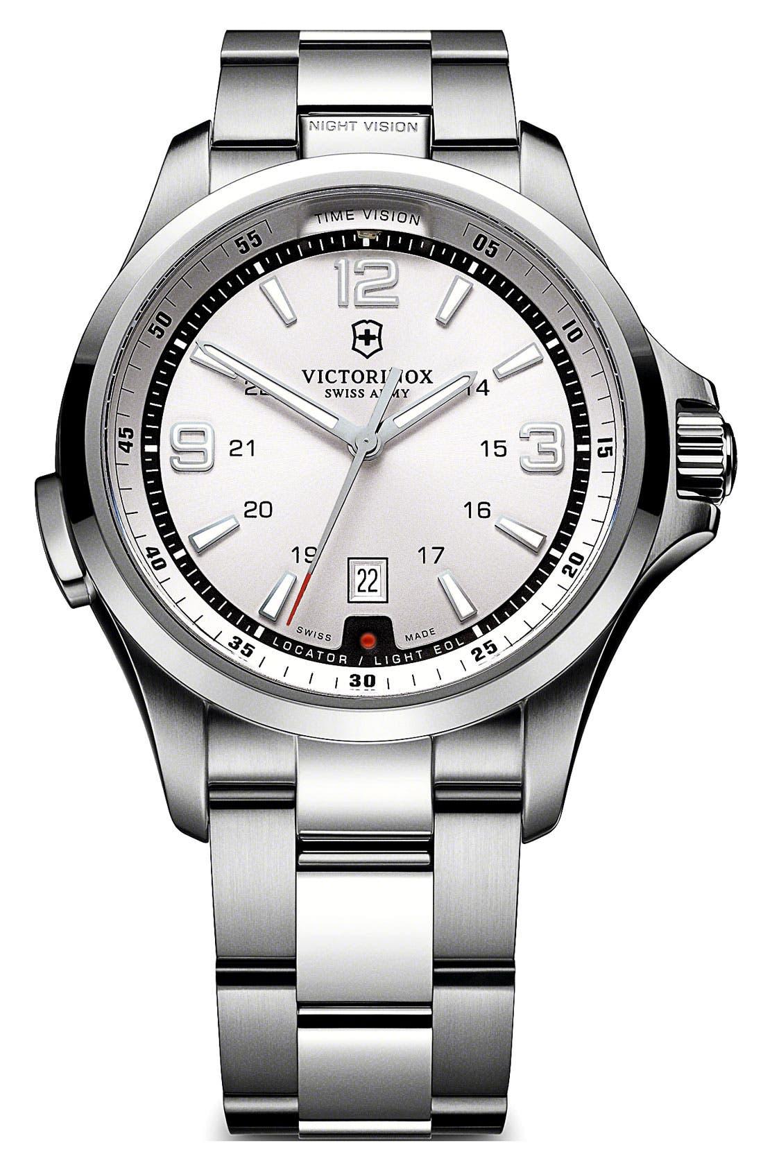 Alternate Image 1 Selected - Victorinox Swiss Army® 'Night Vision' Bracelet Watch, 42mm