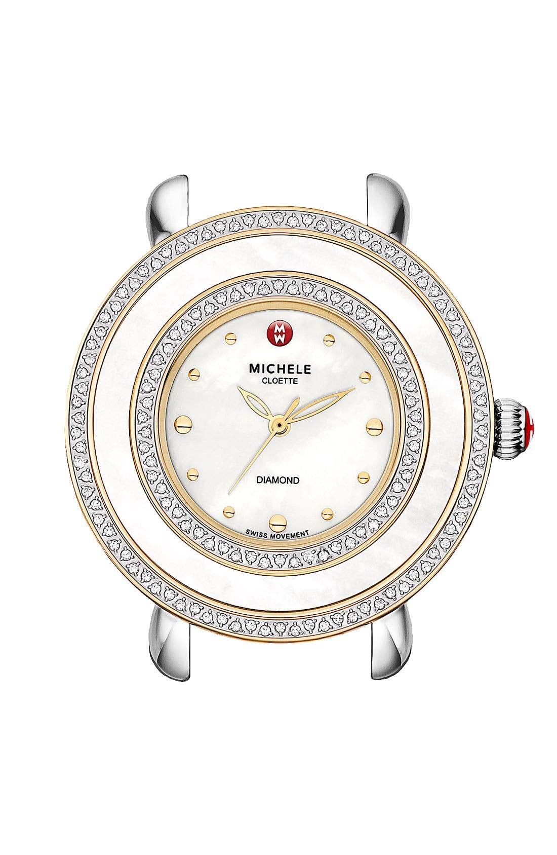 Alternate Image 1 Selected - MICHELE 'Cloette Diamond' Two Tone Watch Case