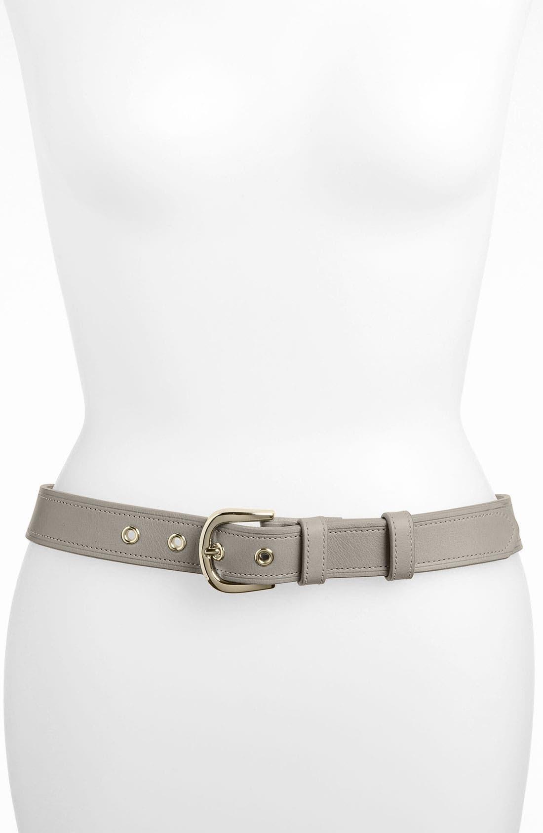 Alternate Image 1 Selected - Halogen® 'Classic Grommet' Leather Belt