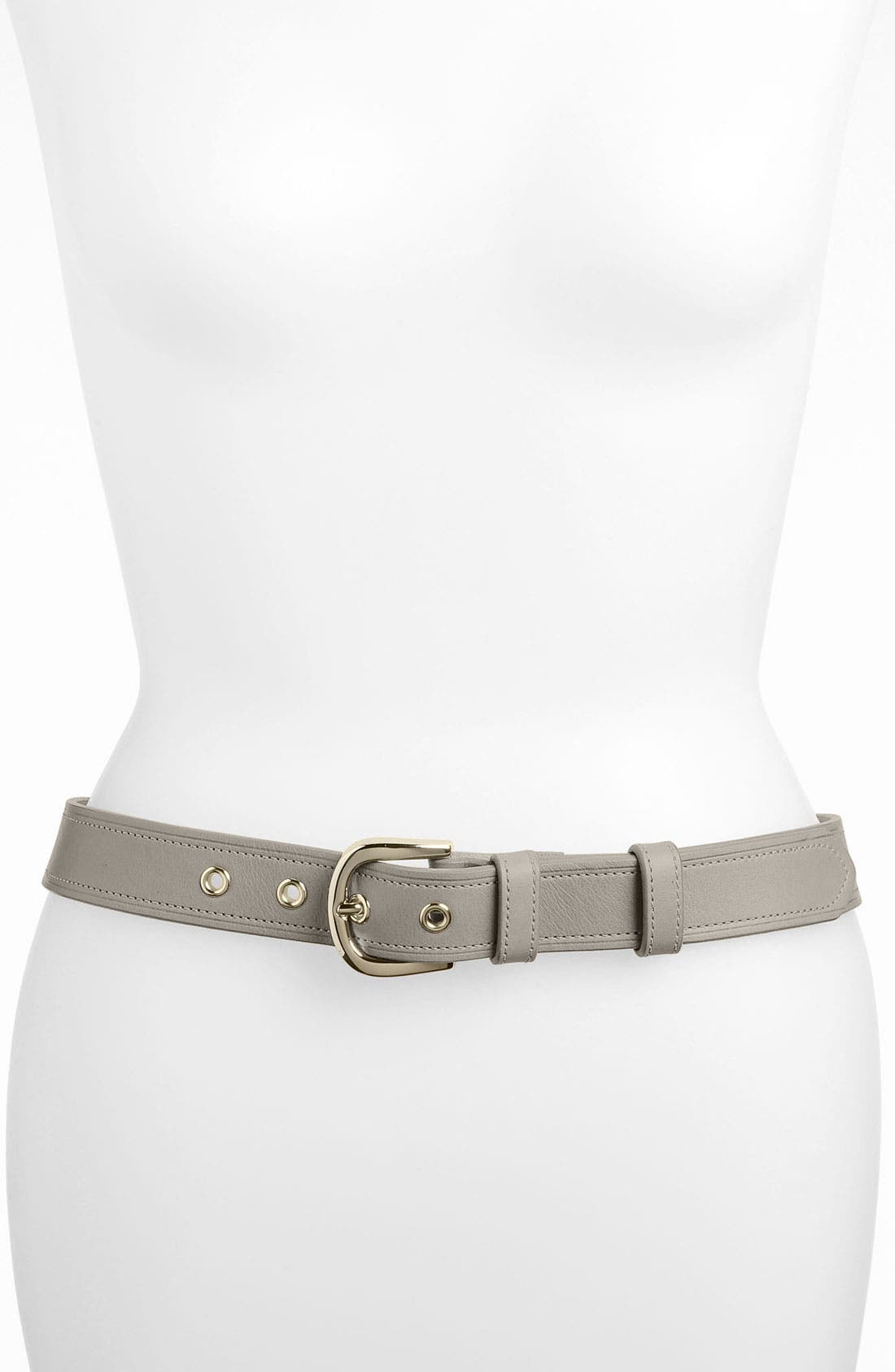 Main Image - Halogen® 'Classic Grommet' Leather Belt