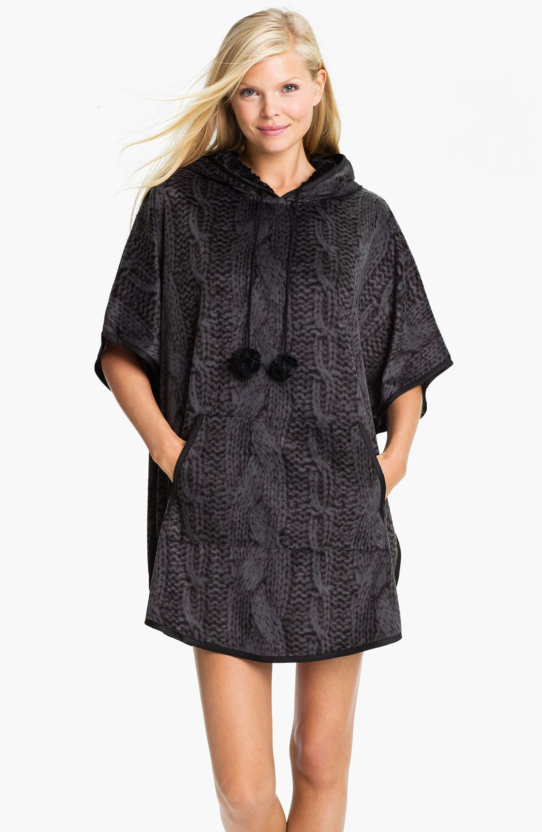 Main Image - Kensie Hooded Sweatshirt Poncho