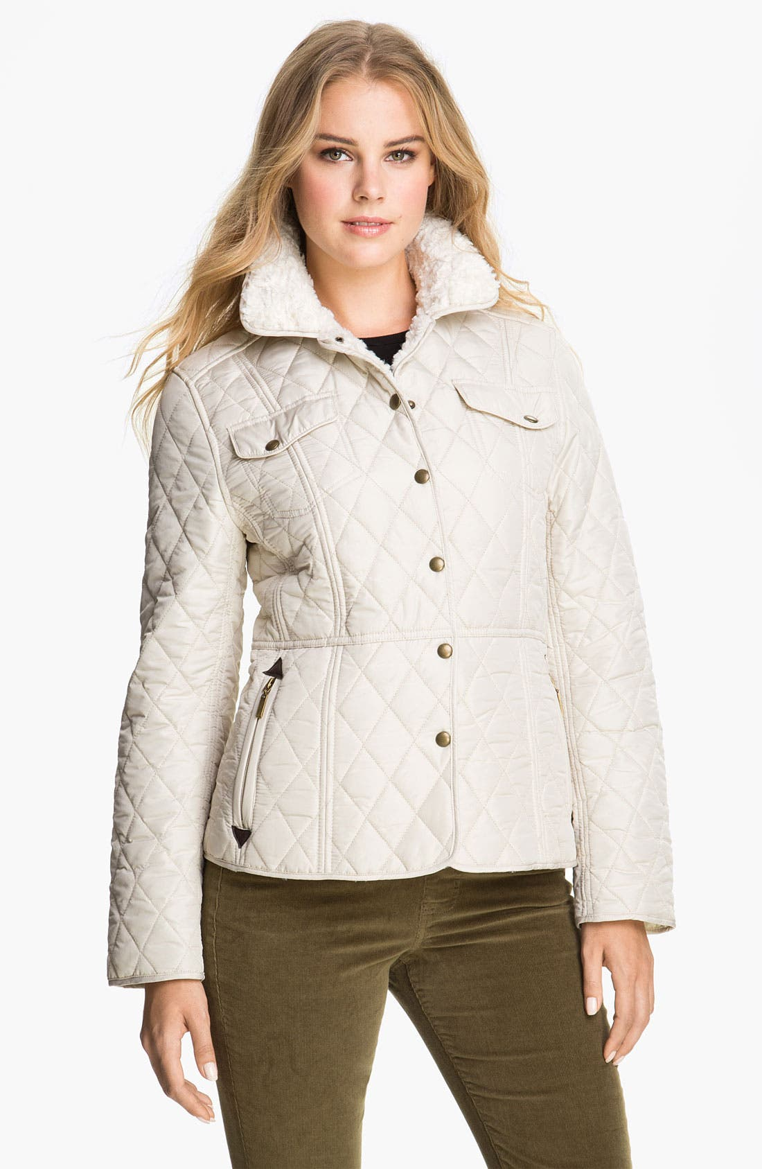 Alternate Image 1  - Weatherproof® Faux Fur Lined Barn Jacket (Online Exclusive)