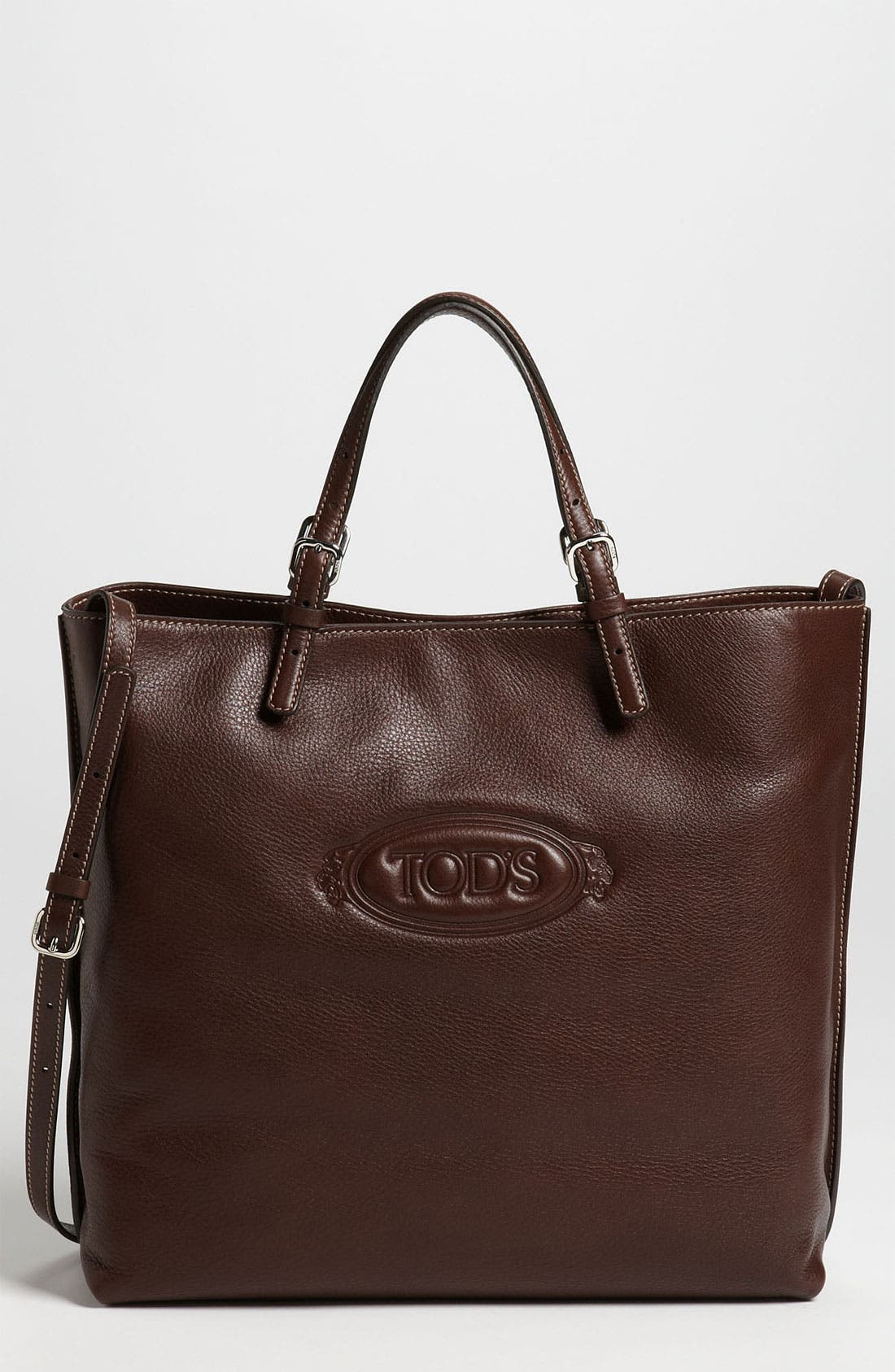 Alternate Image 1 Selected - Tod's 'Logo - Media' Leather Shopper