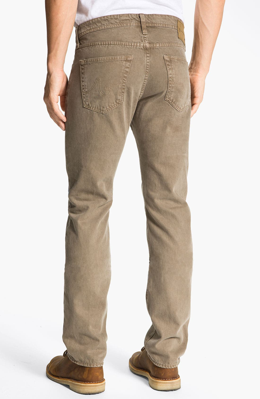 Alternate Image 2  - AG Jeans 'Matchbox' Slim Straight Leg Jeans (Sulfur Beechwood)